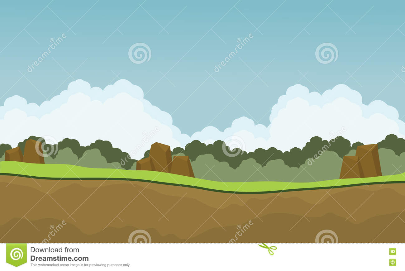 scenery nature backgrounds game stock vector - illustration of