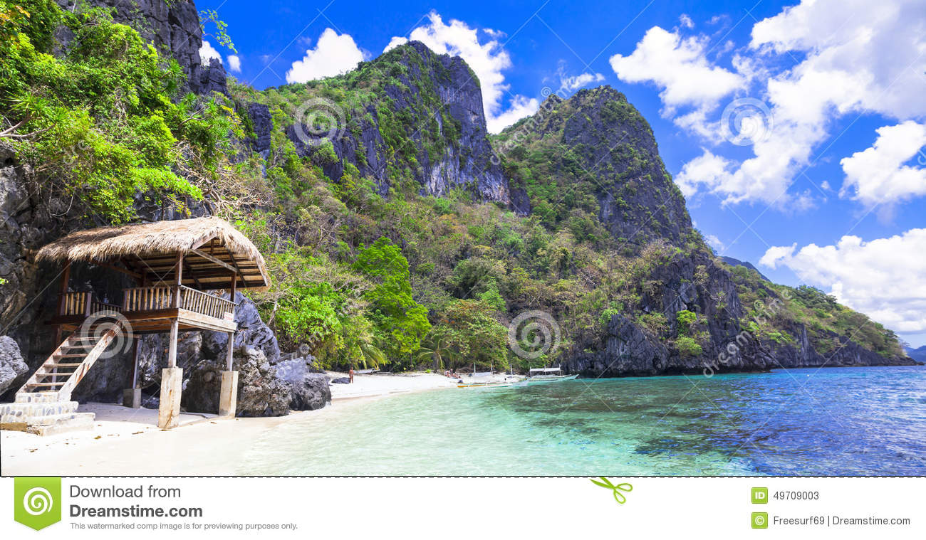 Scenery Of Palawan (Philippines) Stock Image - Image of coast, idyllic: 49709003