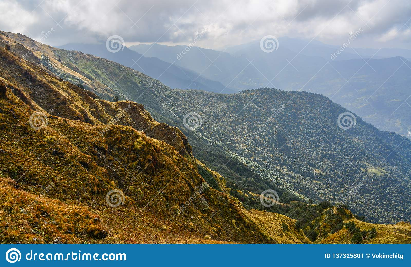 Scenery view of Poon Hill, Nepal