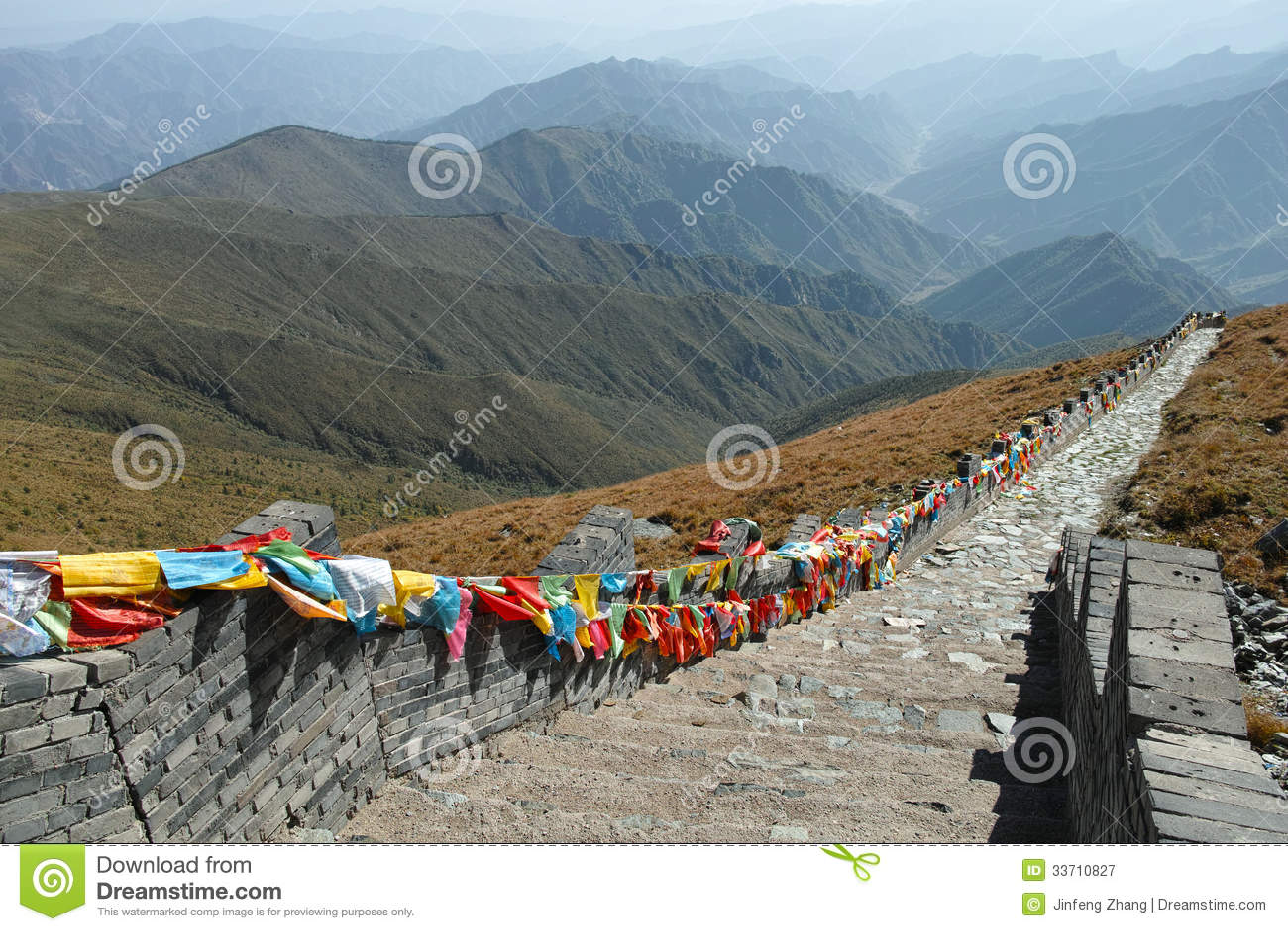 scenery of wutaishan stock image image of morning