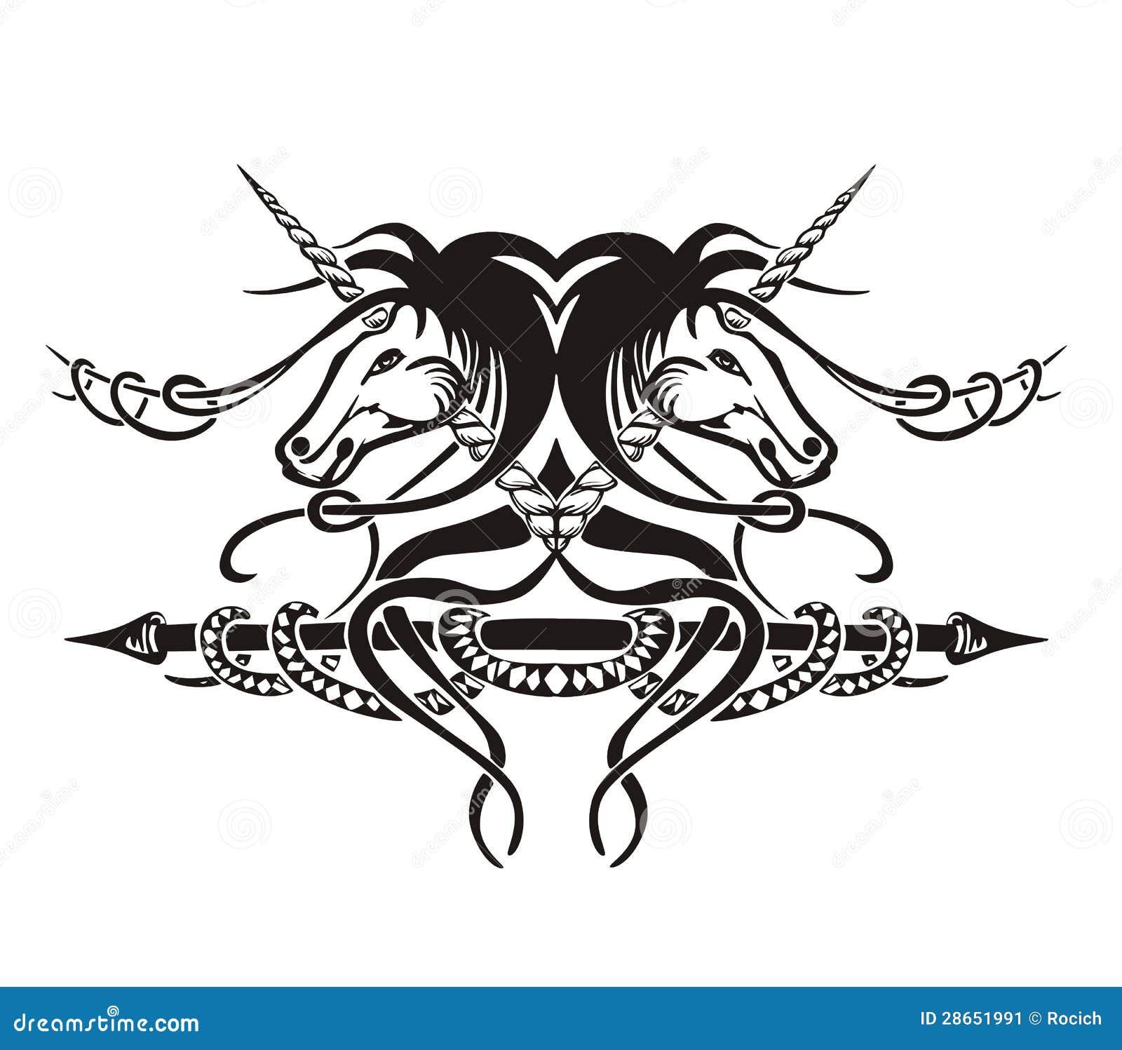 Scenetta simmetrica stilizzata con i cavalli immagine for Immagini cavalli stilizzati