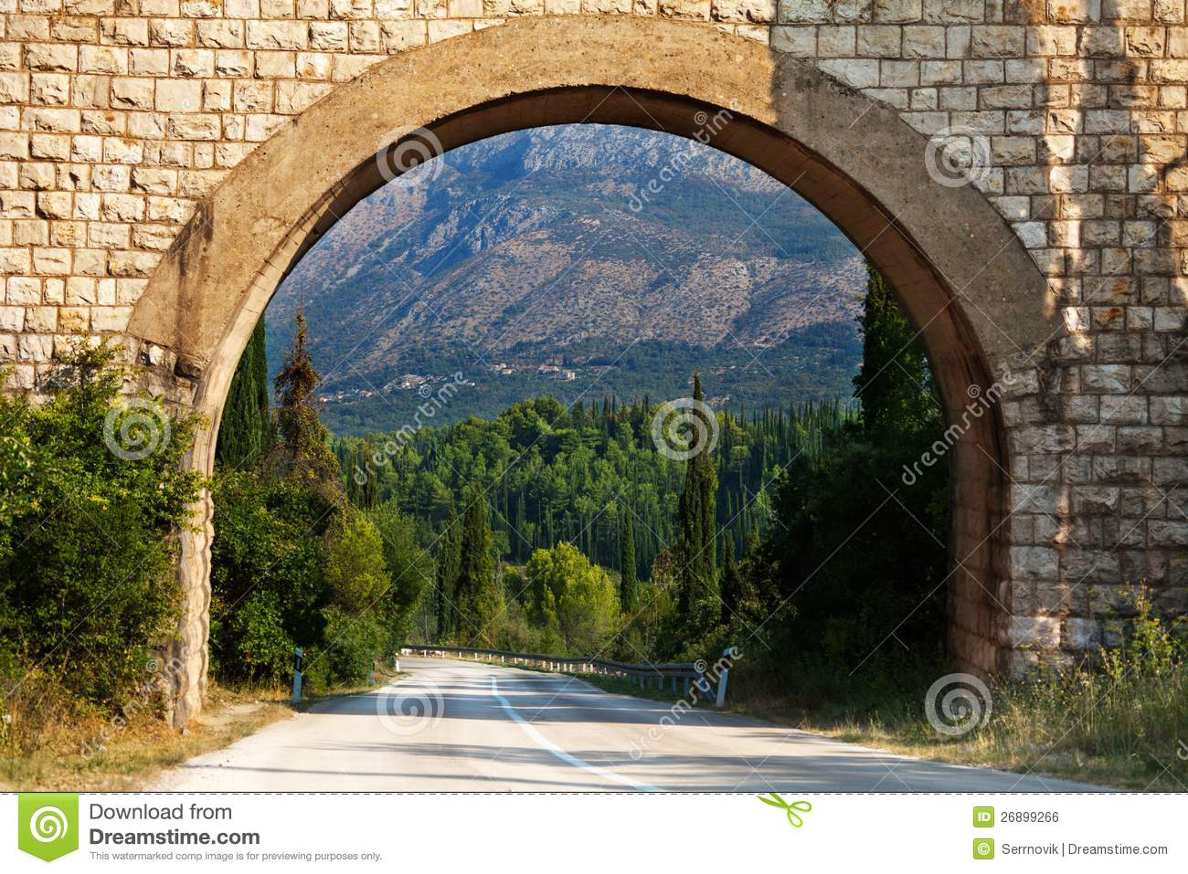 Scenic arch in Croatia