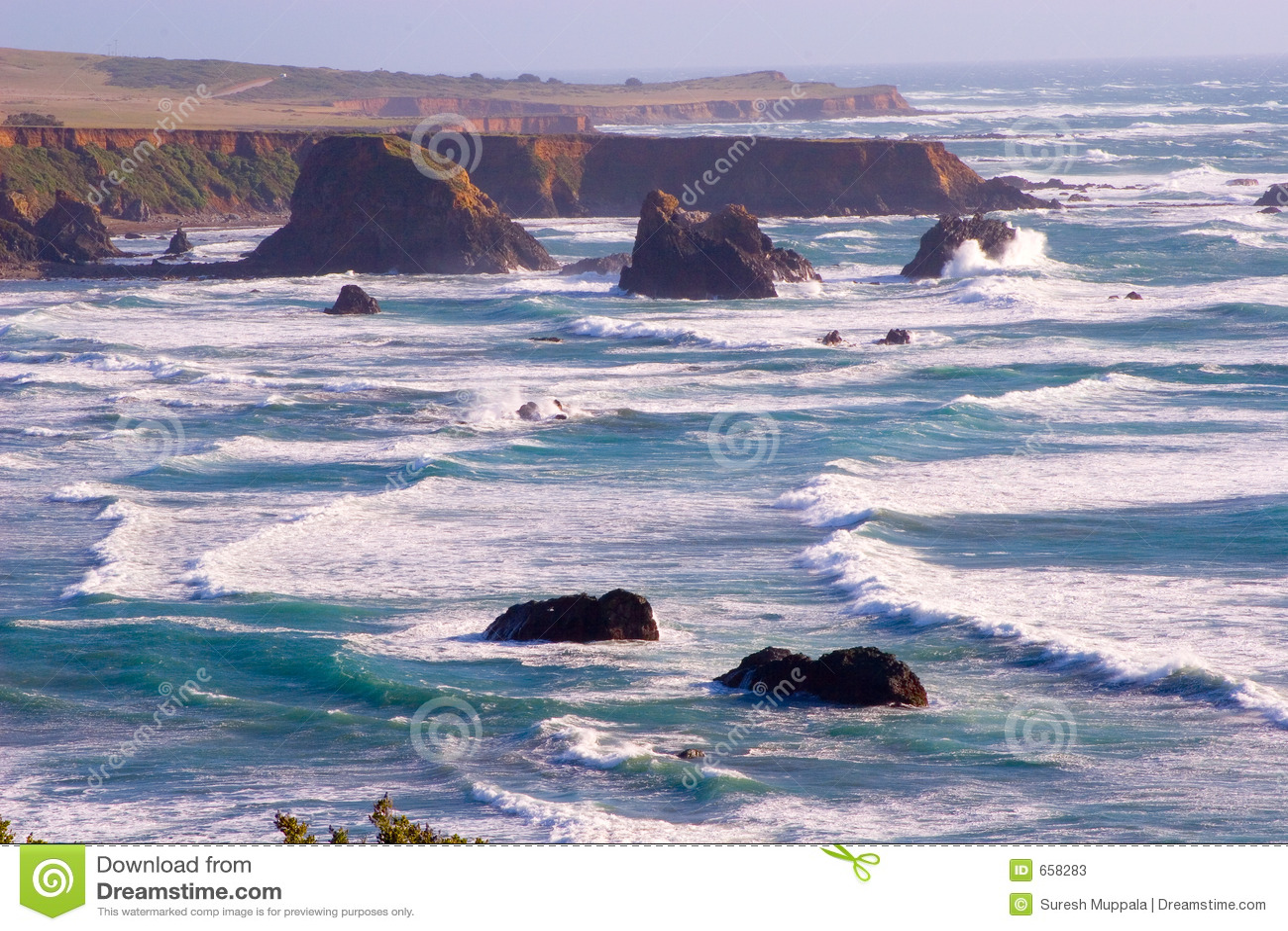 Scenic California Coast Stock Photos Image 658283
