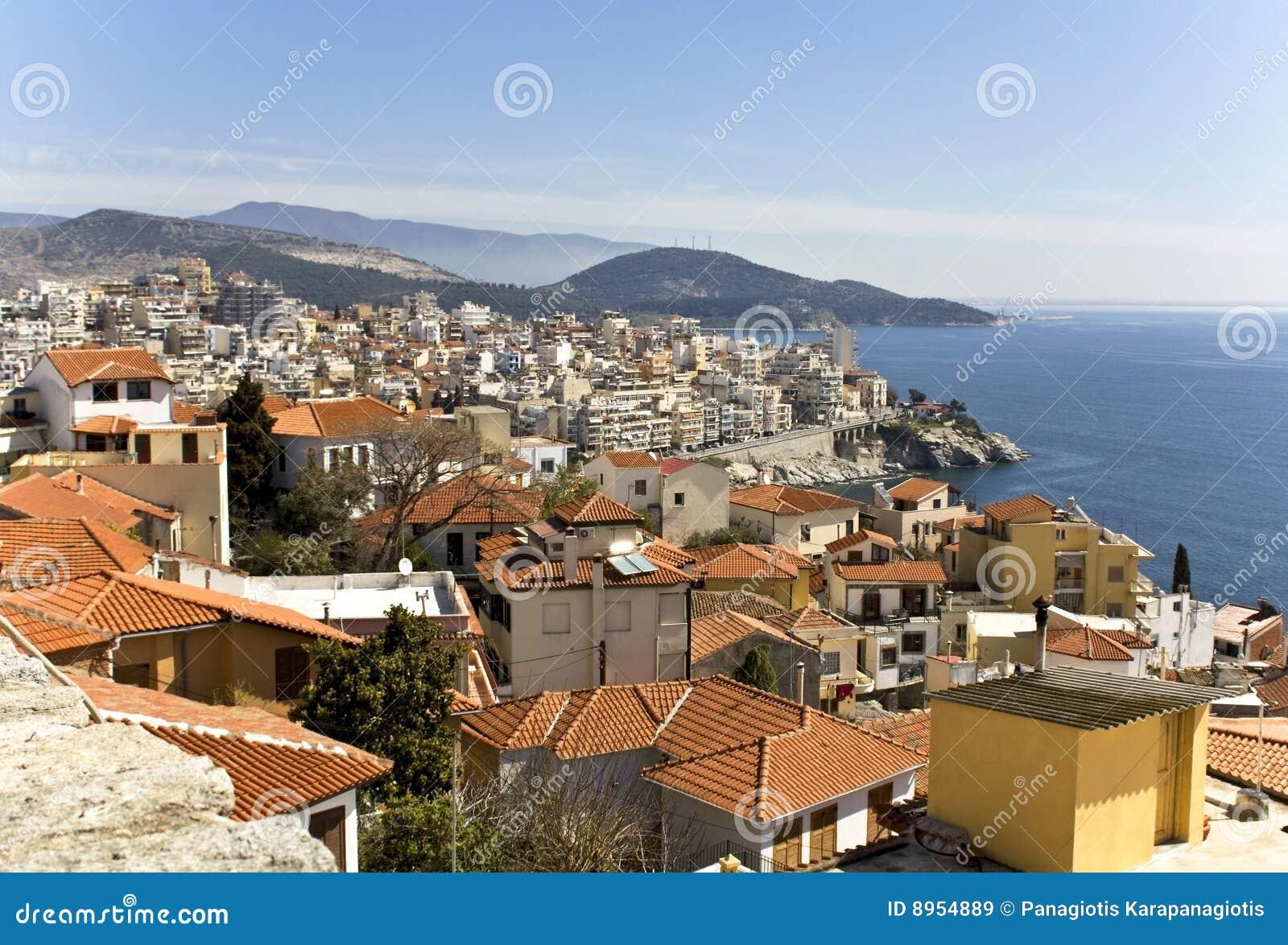 Scenic city of Kavala in Greece