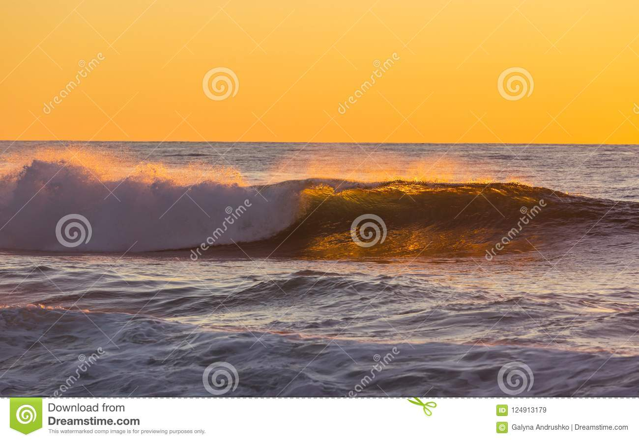 Scenic Colorful Sunset At The Sea Coast Good For Wallpaper Or Background Image