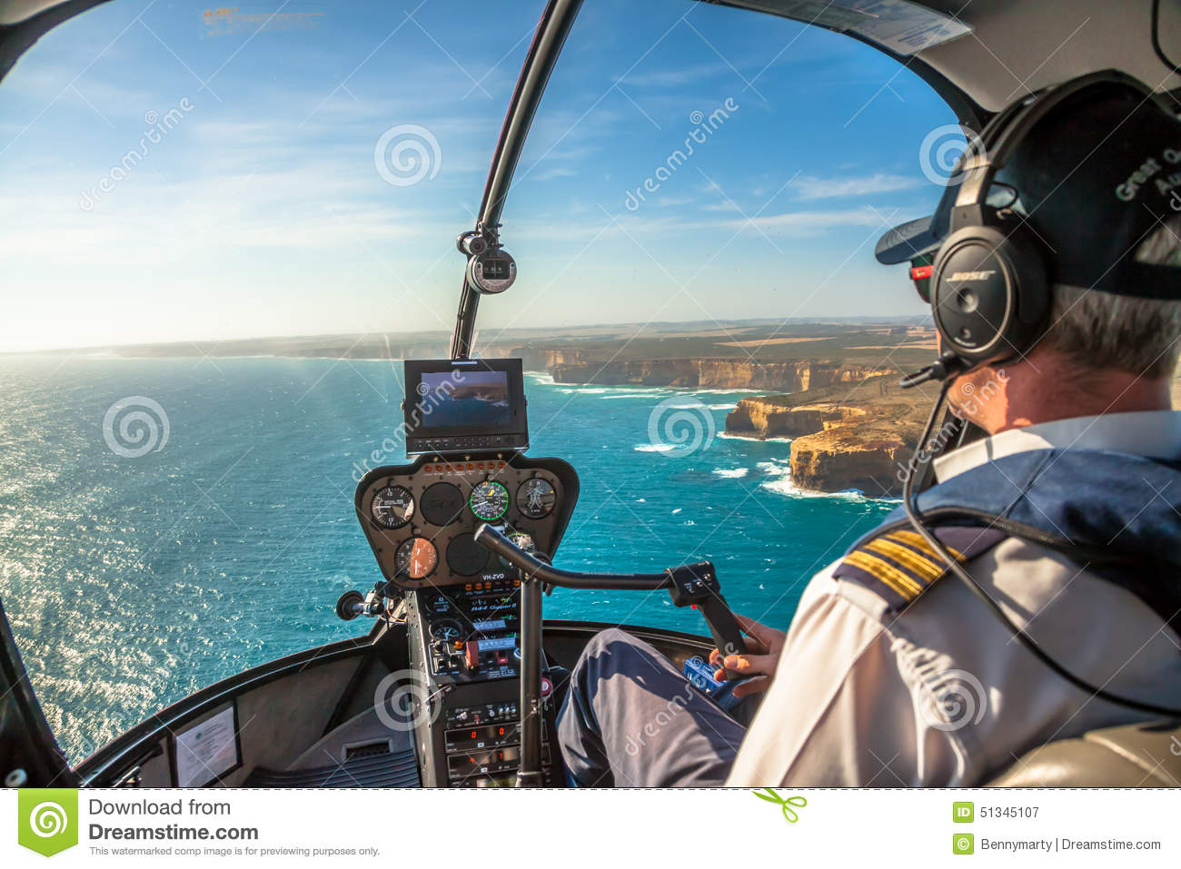Twelve Apostles Helicopter Editorial Photography  Image 51345107