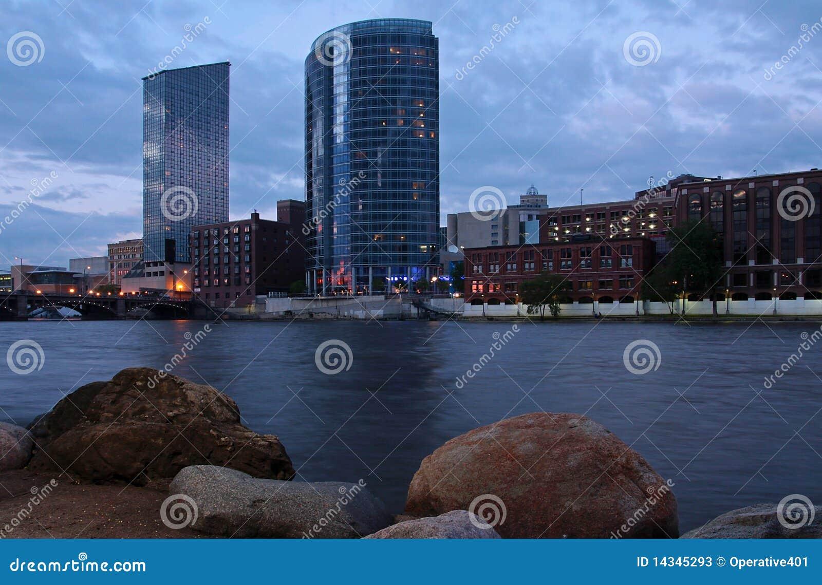 Scenic Grand Rapids, Michigan. Royalty-Free Stock Photo