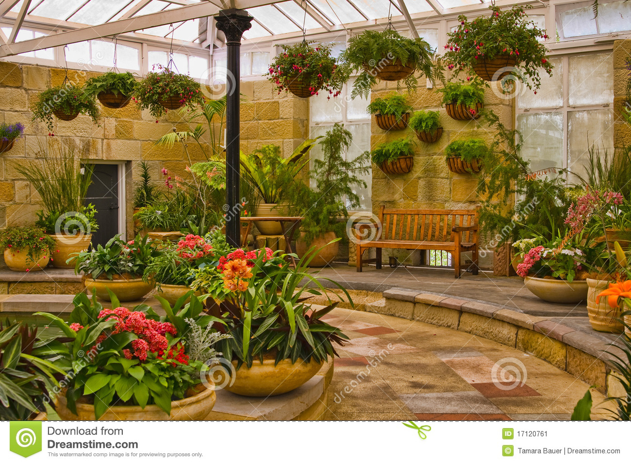 Scenic indoor garden area stock image image of floral for Indoor gardening videos