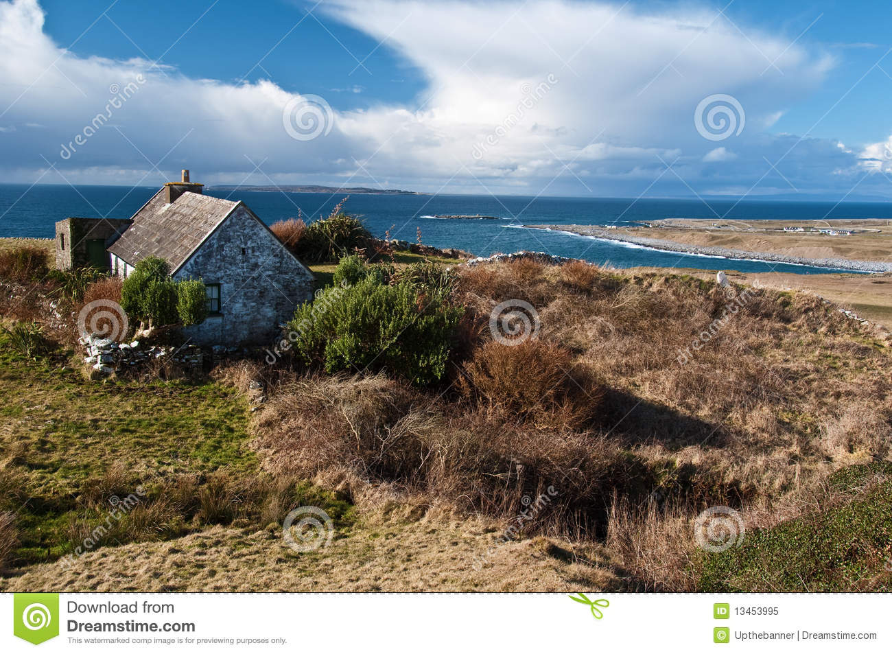 Royalty Free Stock Photo Scenic Irish Landscape Old Irish Cottage Image13453995 on vacation house plans