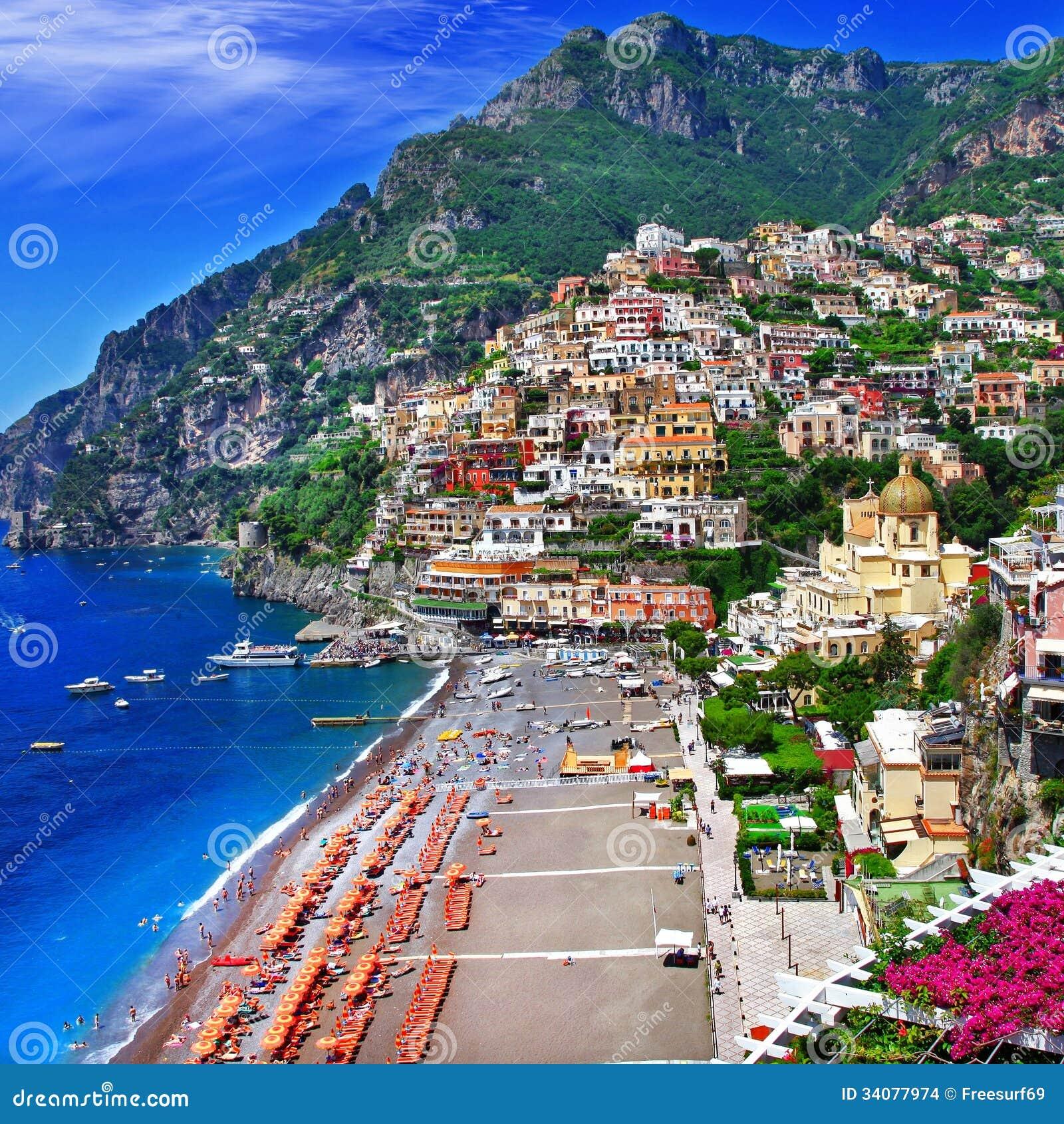 scenic italy  positano. scenic italy  positano stock photo image of positano