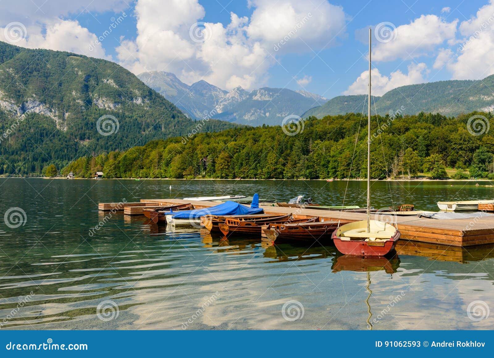 The scenic lake Bohinj