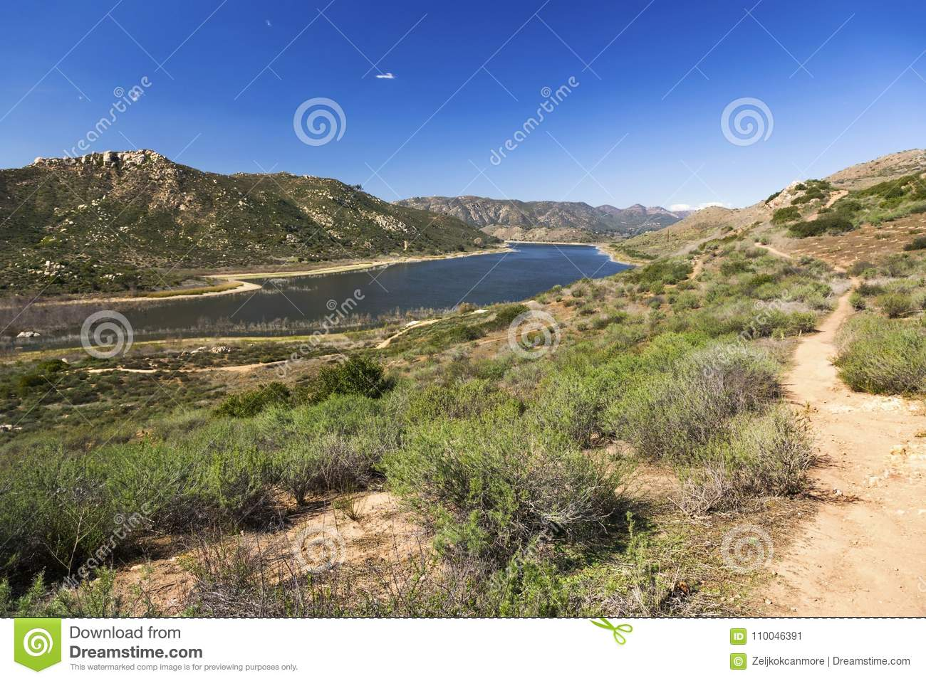 Lake Hodges Scenic Landscape View San Diego County California