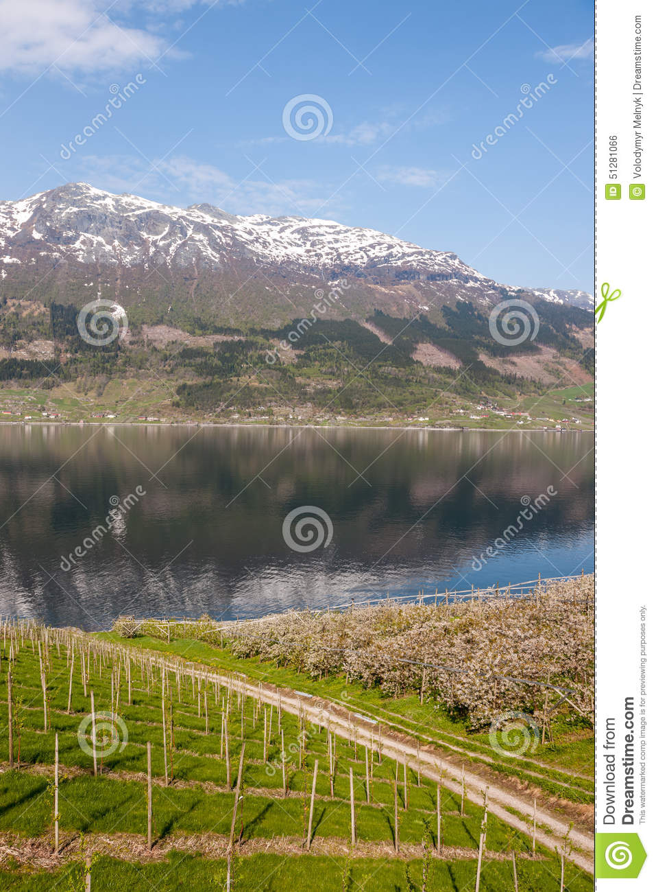 Scenic landscapes of the norwegian fjords stock image 48134863 - The house on the rock the ultimate refuge in a norwegian fjord ...