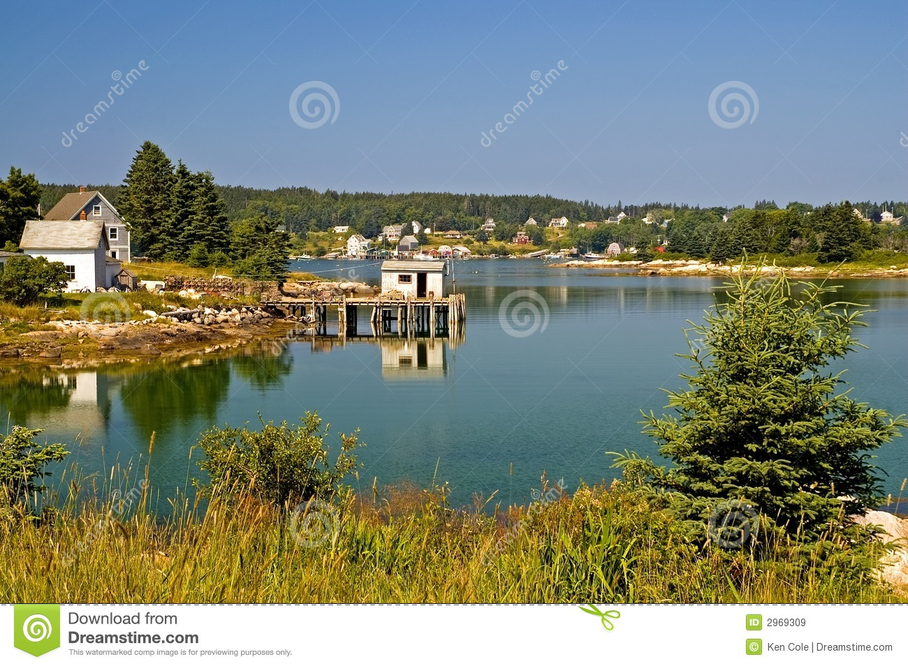 Scenic Maine Fishing Village Royalty Free Stock Images ...