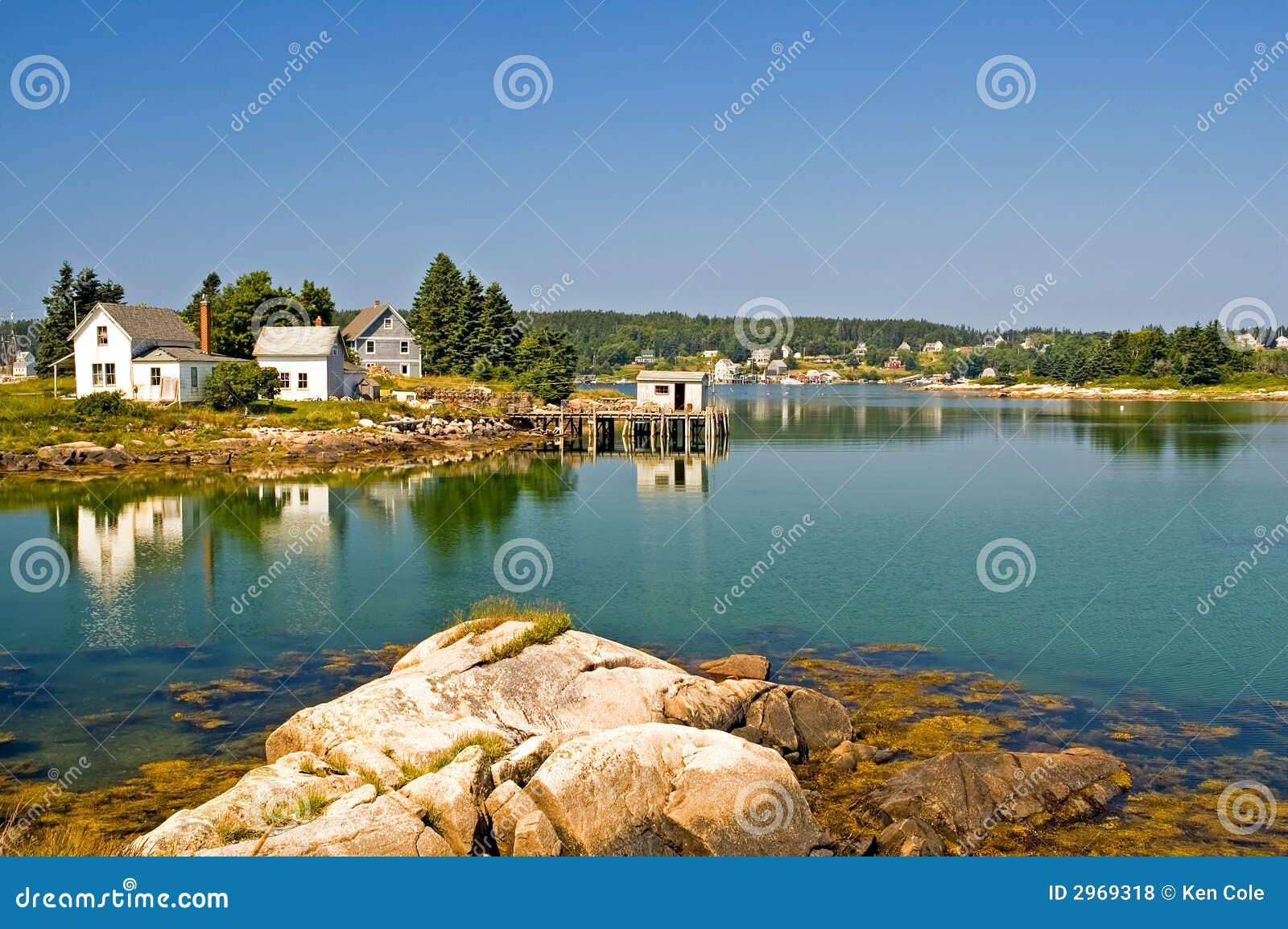 Scenic maine fishing village royalty free stock photos for Fishing docks near me
