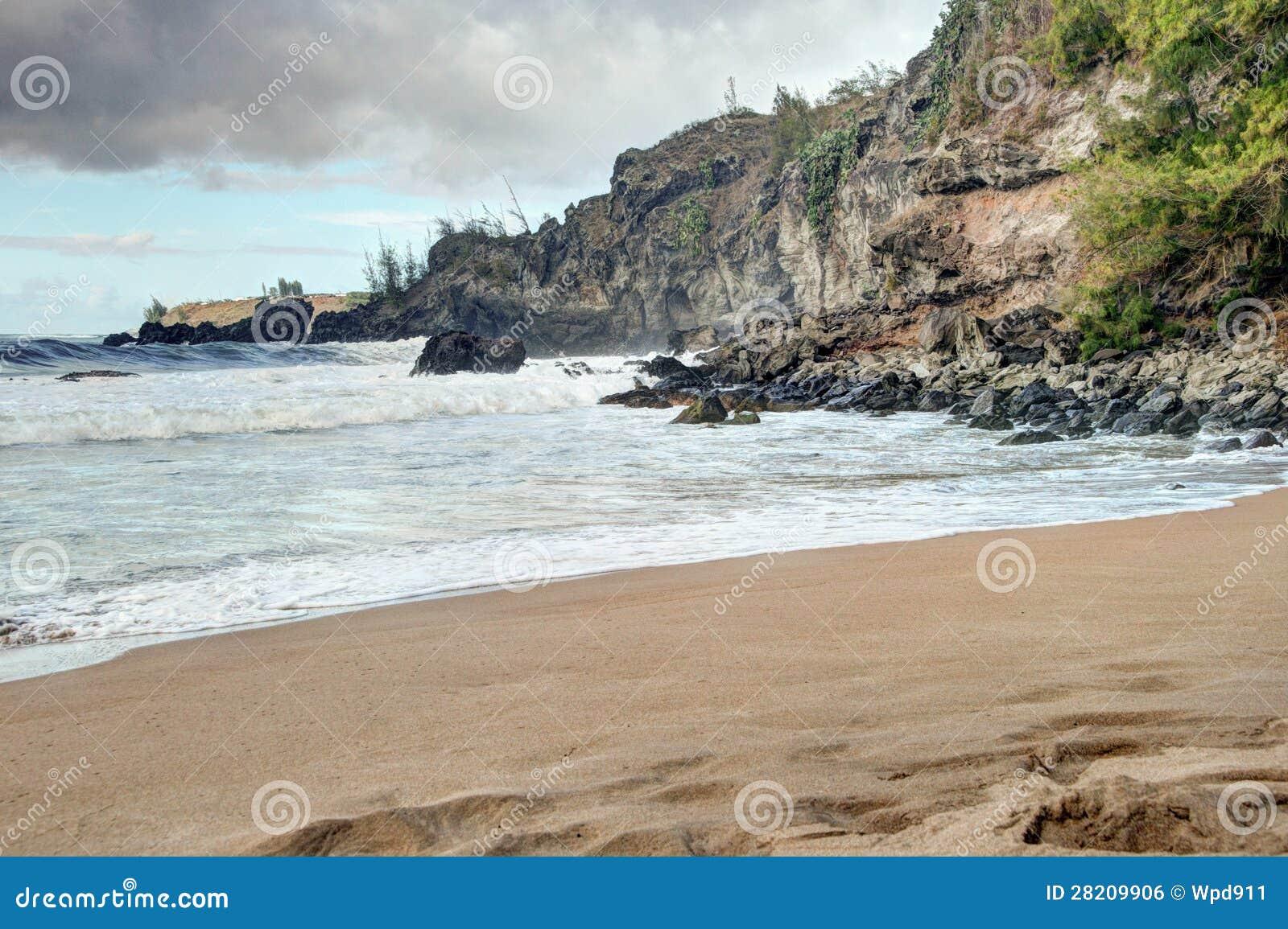 3e290363a7 Scenic Maui Shoreline stock photo. Image of serene