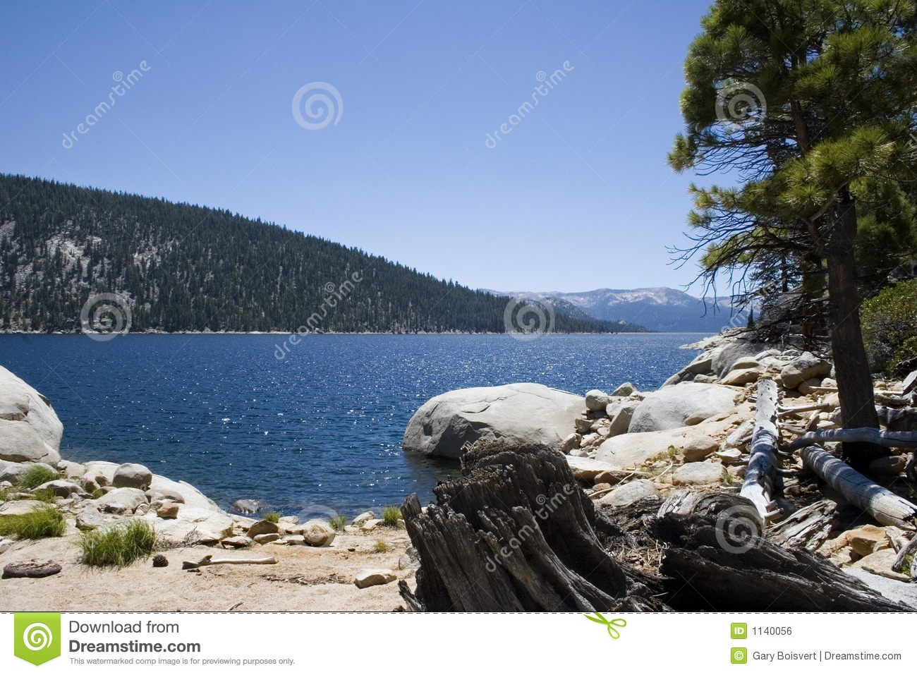 scenic mountain lake,Edison lake