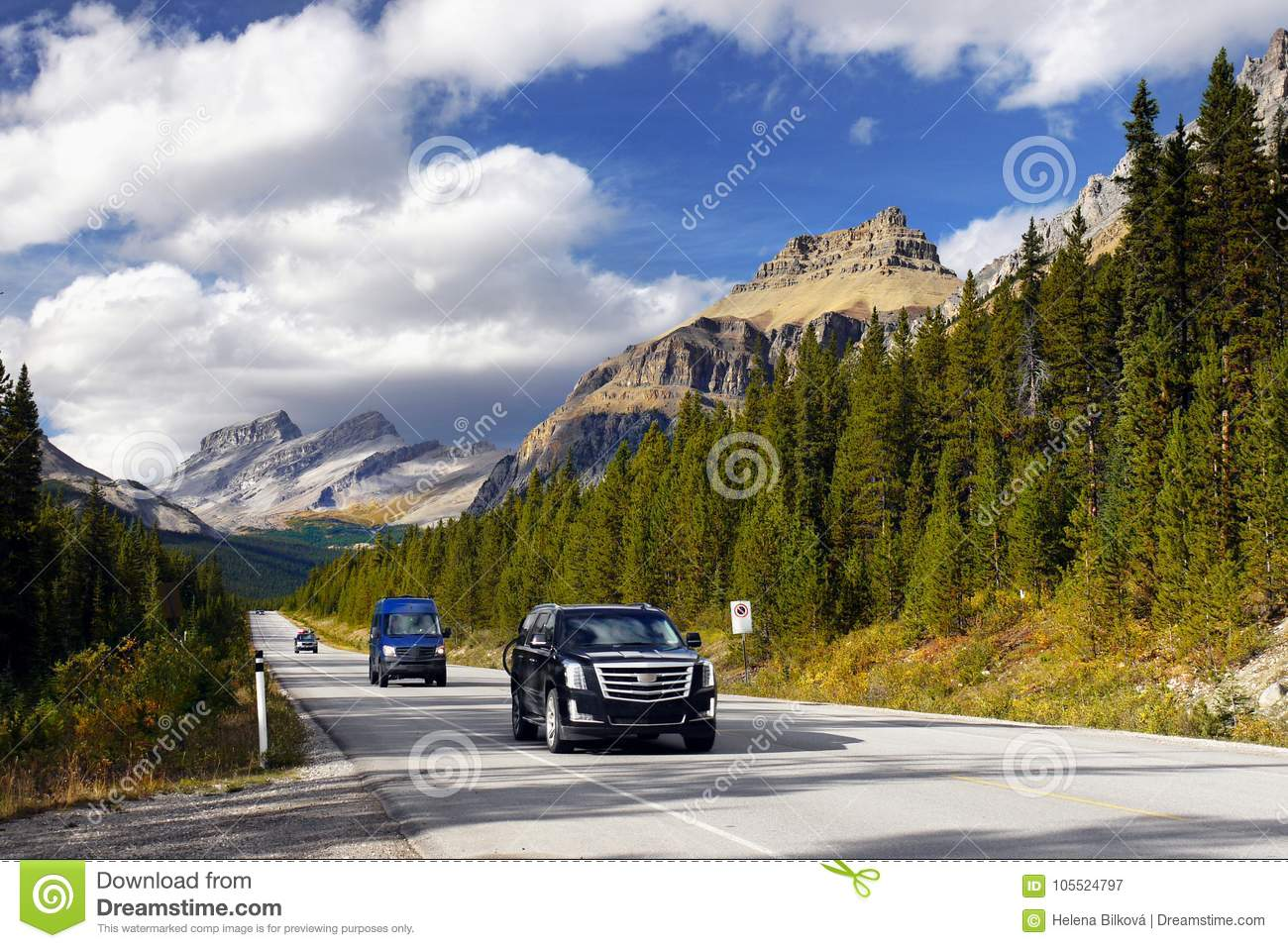 Scenic Mountain Road, Icefield Parkway, Canadian Rockies