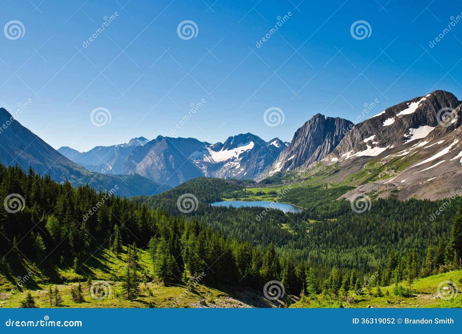 Scenic Mountain Views Kananaskis Country Alberta Canada Stock Photography - I...