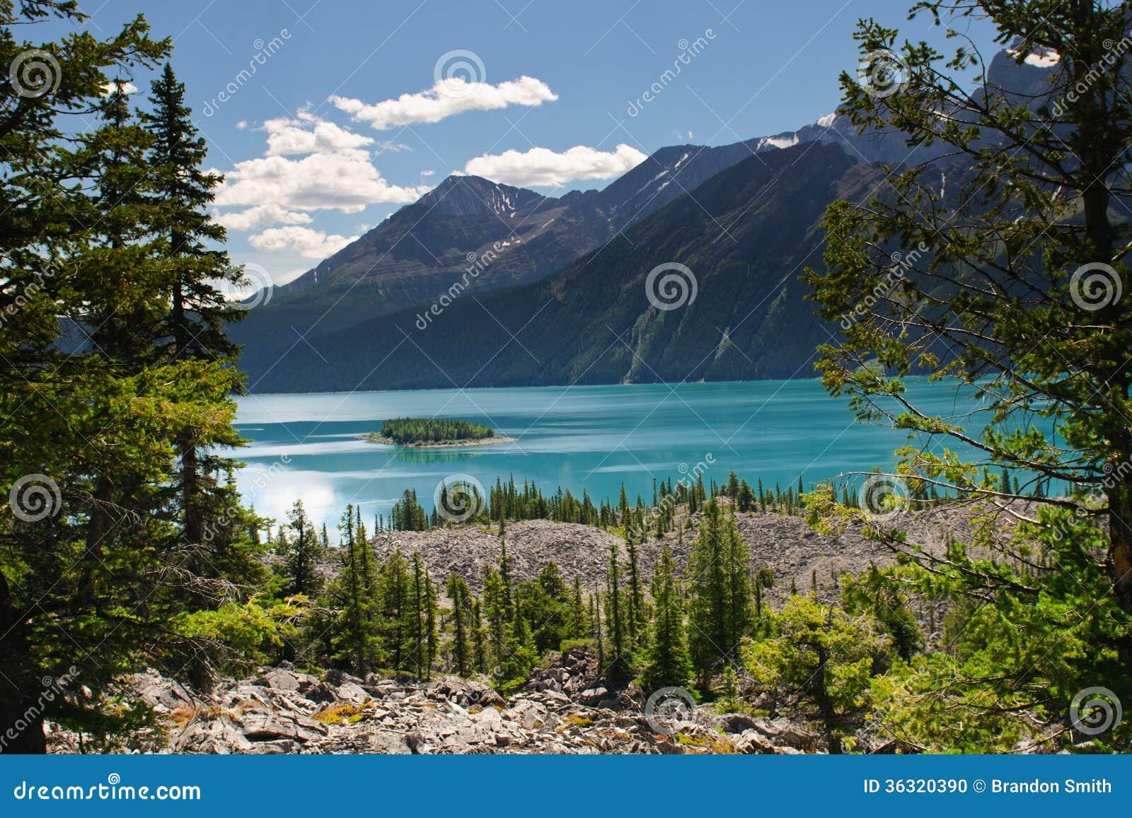 Scenic Mountain Views Kananaskis Country Alberta Canada Stock Photo ...
