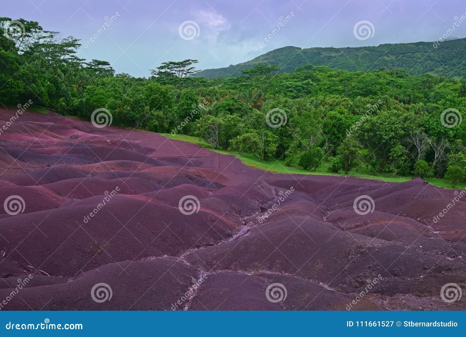 Scenic Natural Wonder of Chamarel plain at Mauritius