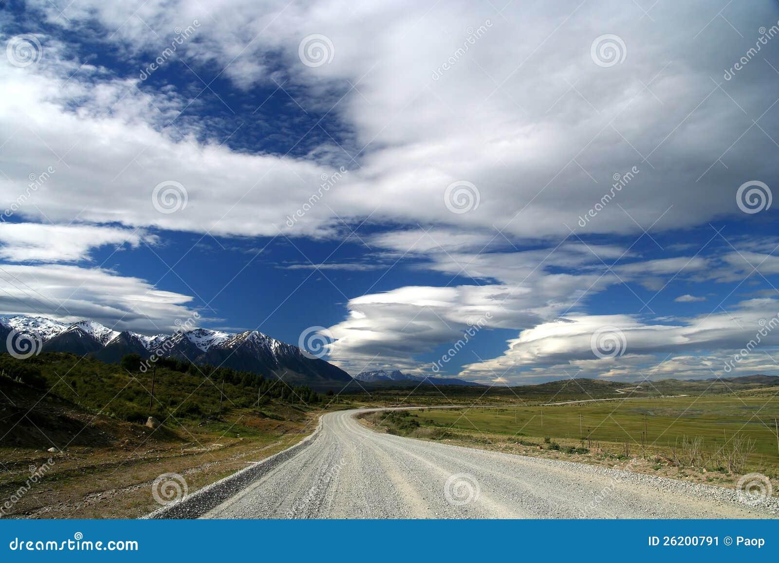 Scenic patagonian road