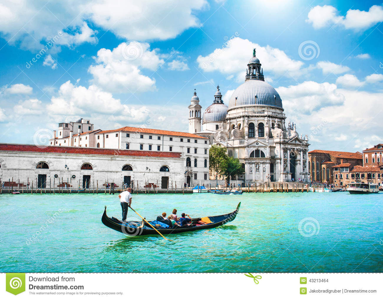 Download Scenic Postcard View Of Venice, Italy Stock Photo - Image of blue, gondolier: 43213464