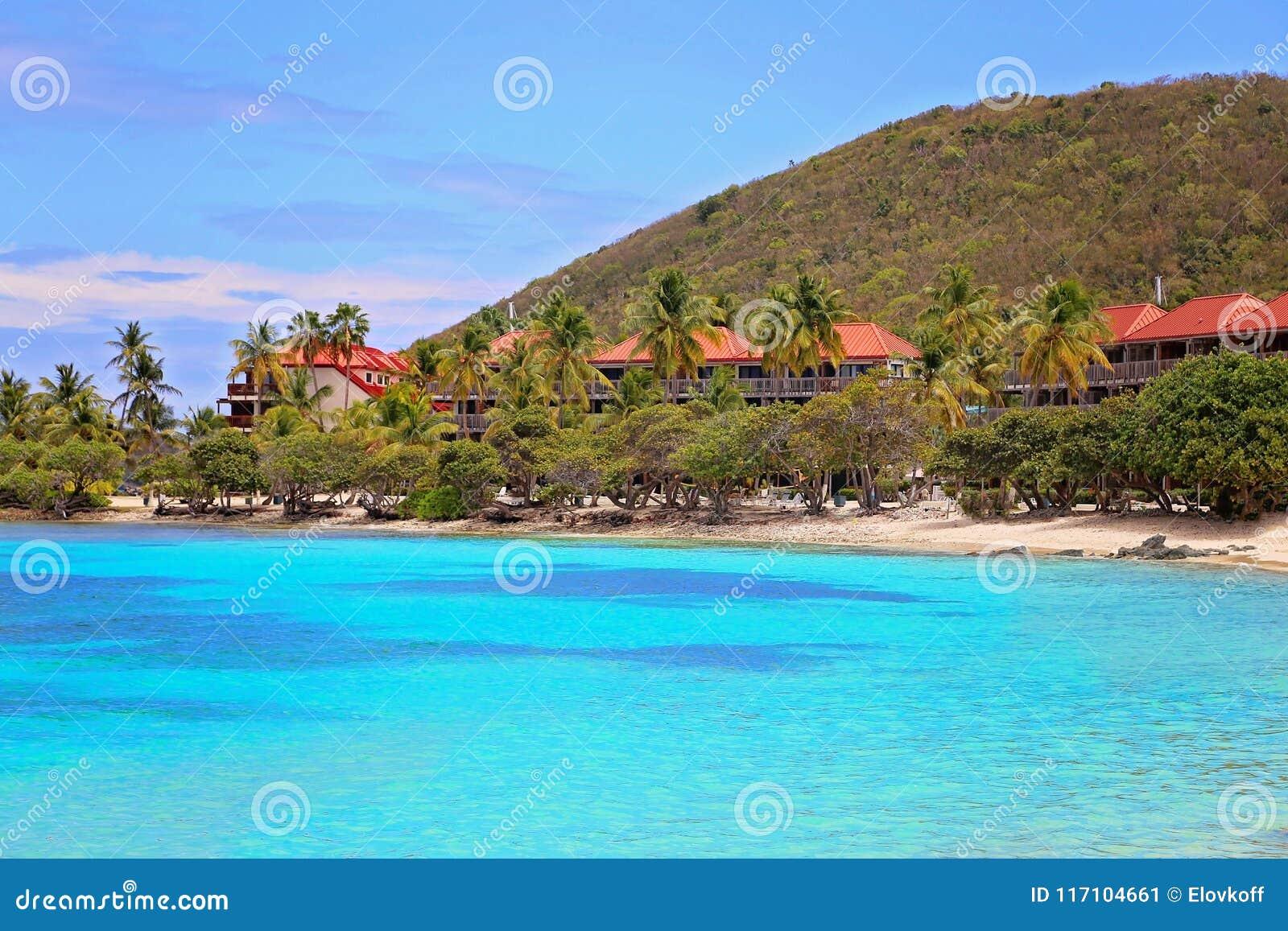 sapphire beach on st thomas island stock image image of sapphire