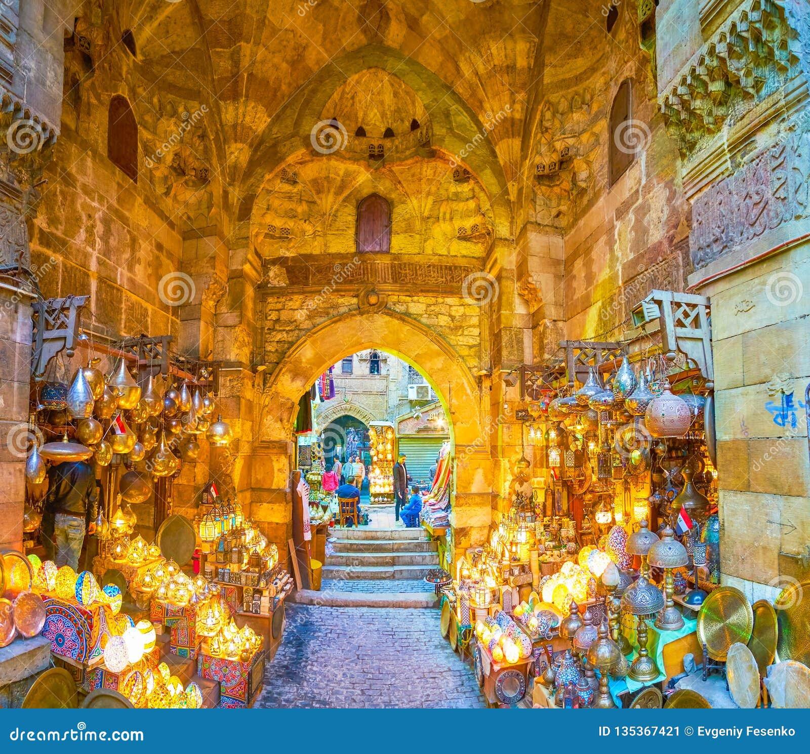 The scenic shop in Khan El-Khalili market, Cairo, Egypt