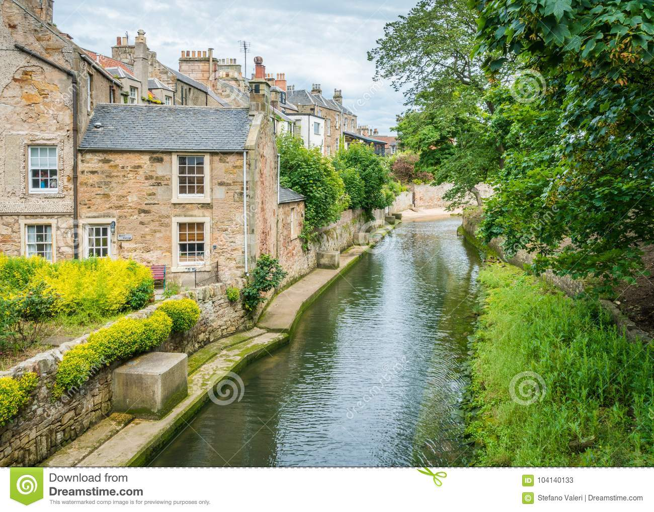 Scenic Sight In Anstruther In A Summer Afternoon, Fife, Scotland