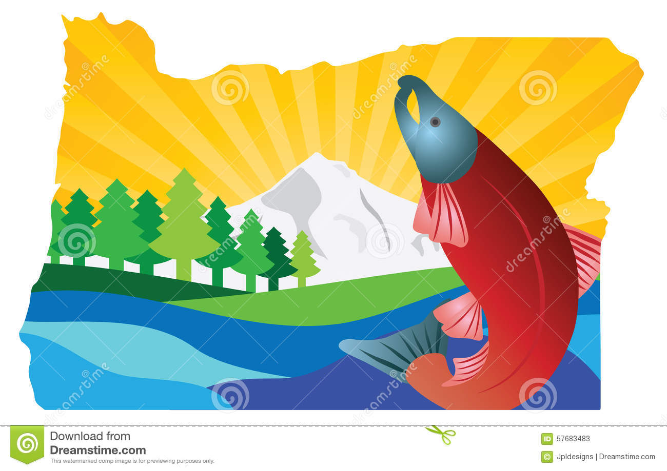 Comstock Park (MI) United States  city photo : Scenic State Of Oregon Map Outline Vector Illustration Stock Vector ...