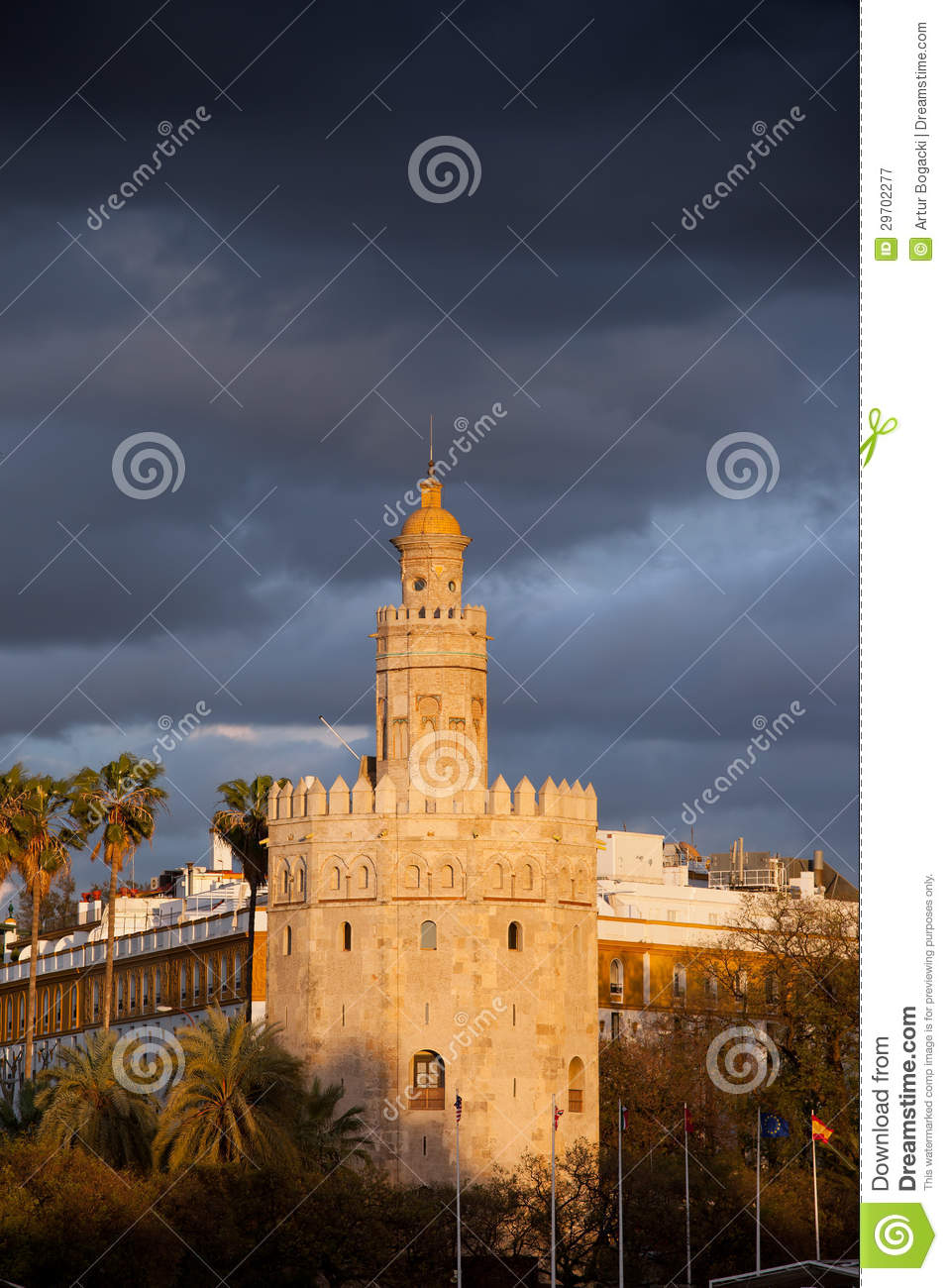 Torre del Oro at Sunset in Seville
