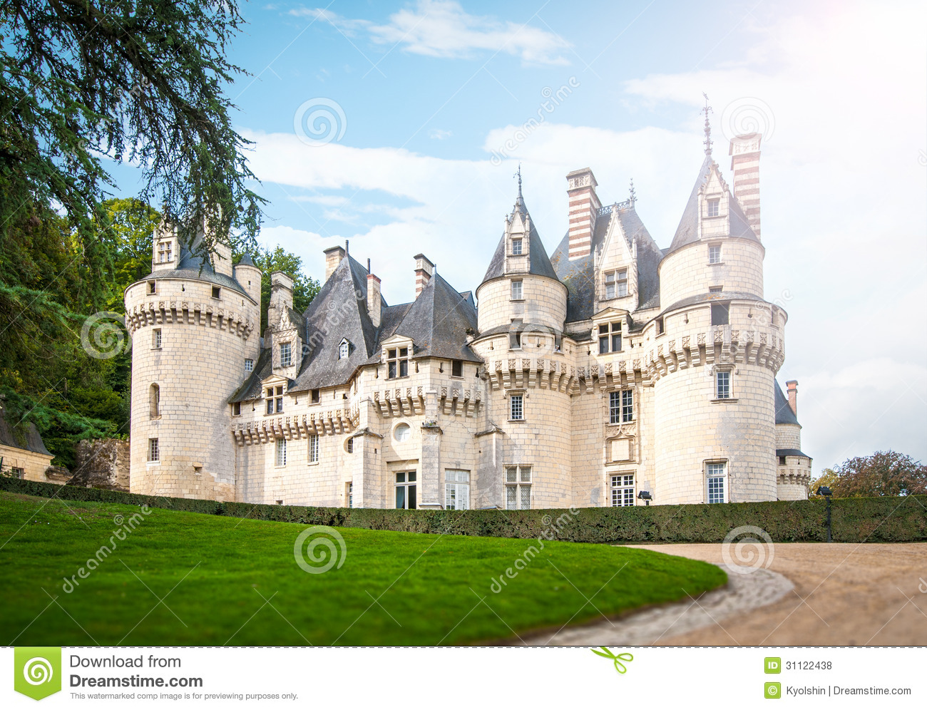 Scenic View Of Castle In France Europe Royalty Free