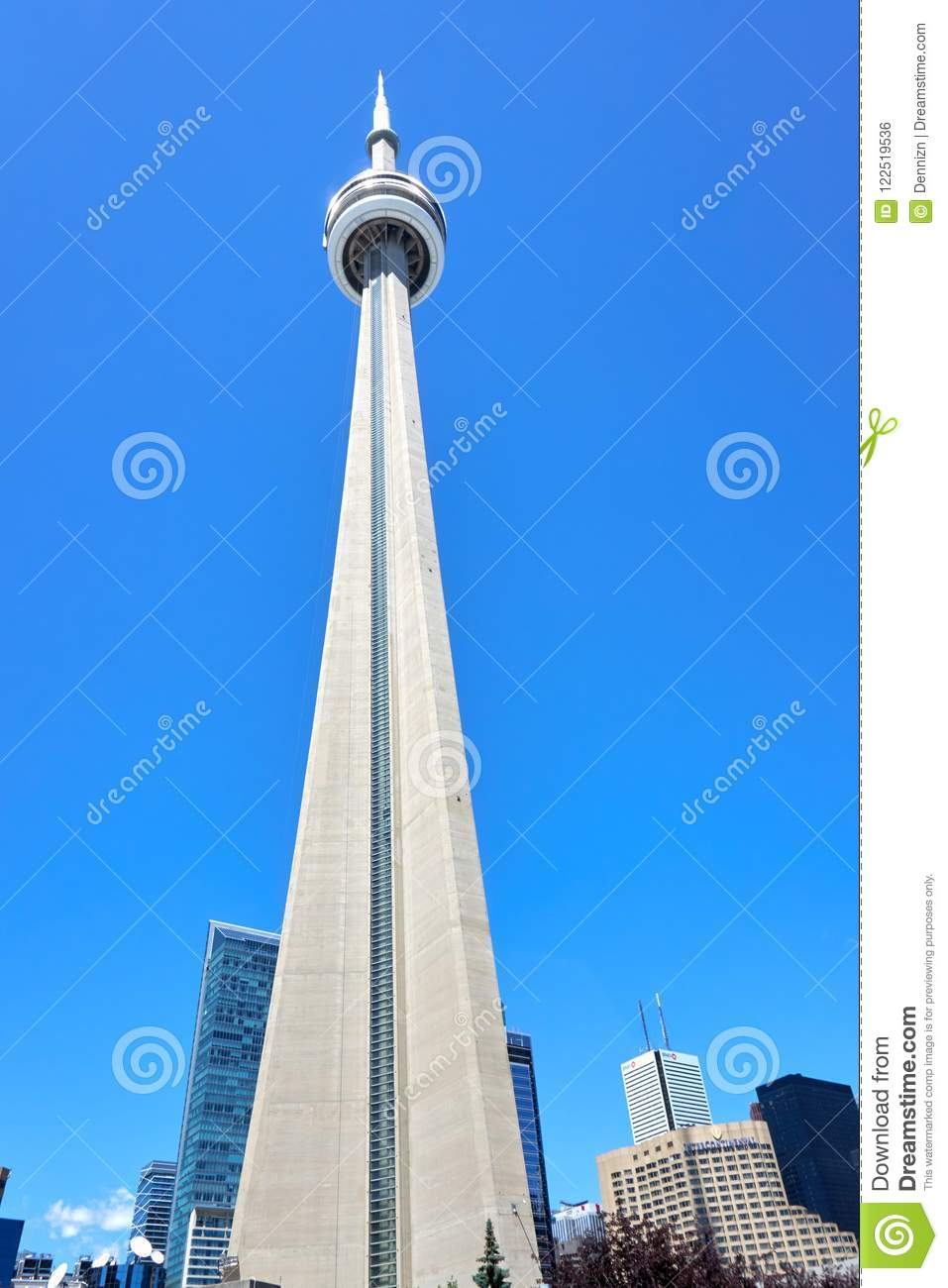 Scenic View Of Cn Tower In Toronto Ontario Editorial Photo Image Of Canadian Ontario 122519536