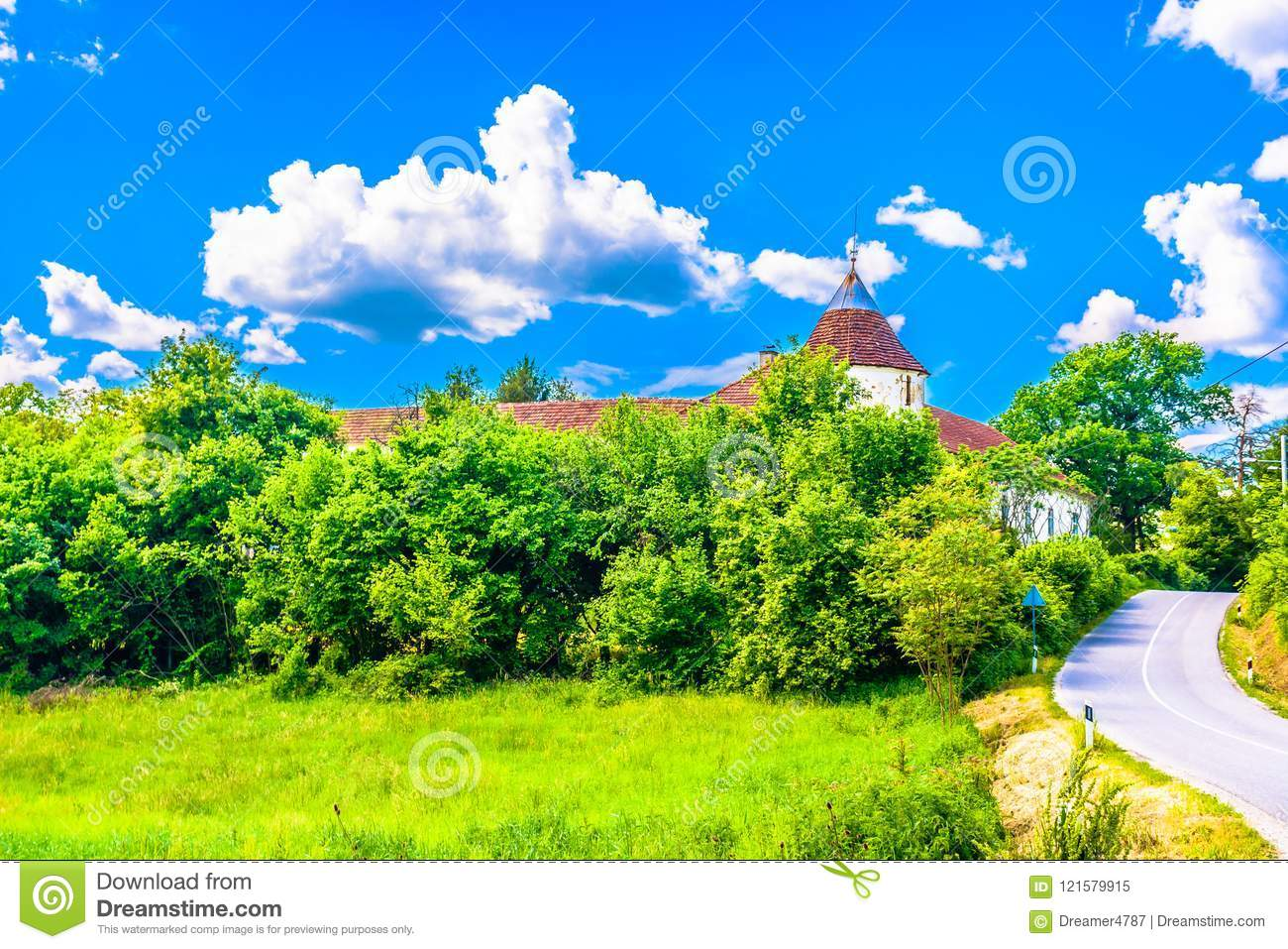 Colorful picturesque scenery in Zagorje, Europe.