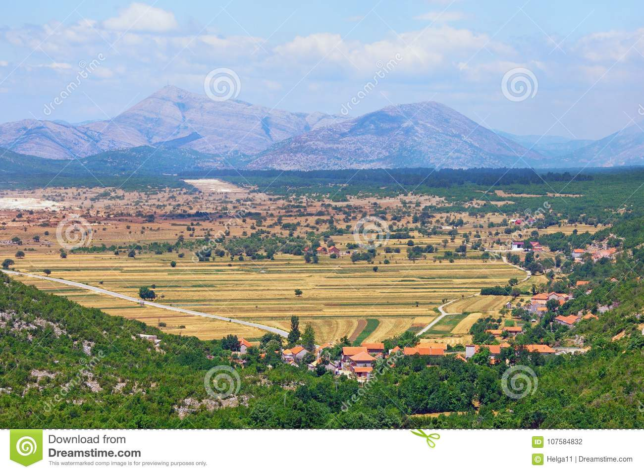 Scenic view of mountain valley in Bosnia and Herzegovina