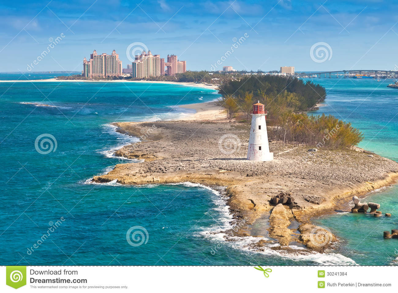 Scenic view of nassau bahamas the cruise port and paradise island
