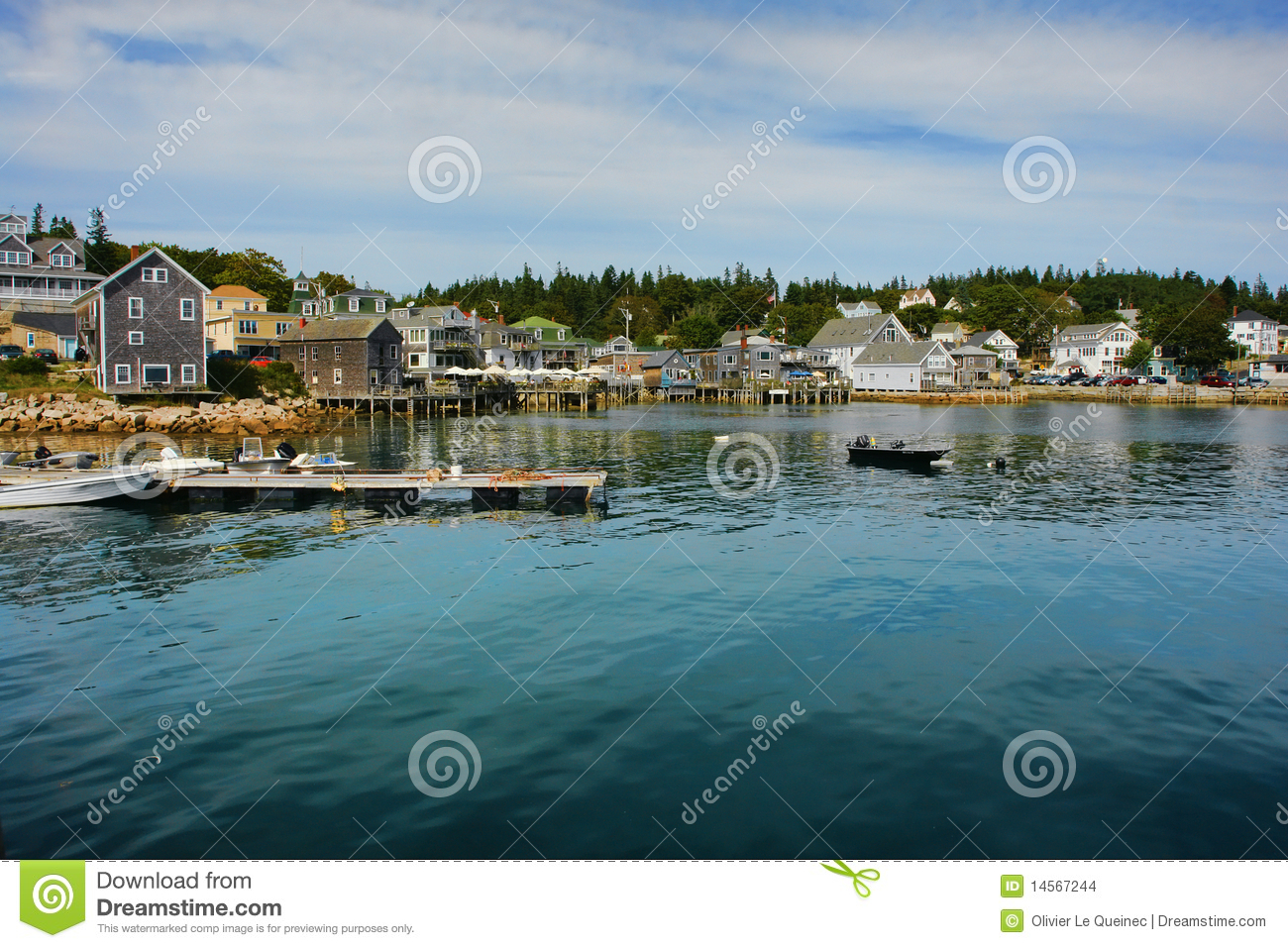 Scenic waterfront port of stonington in maine stock images for Who sells fishing license near me