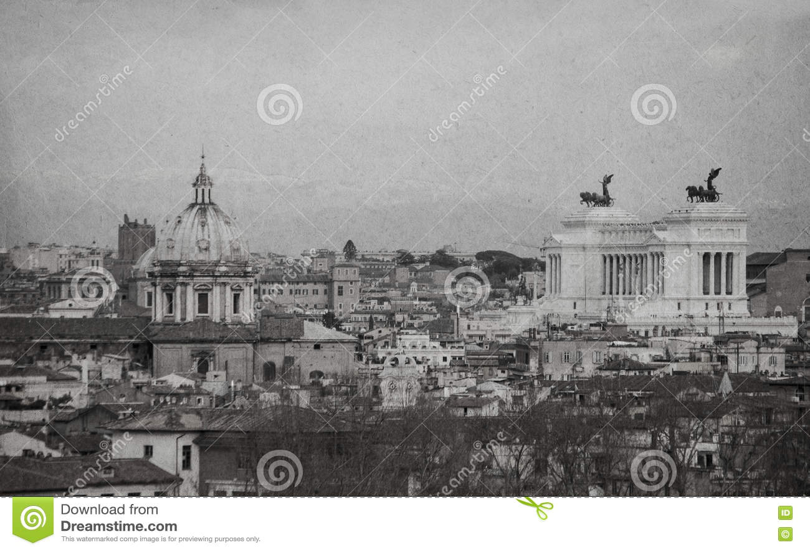 Scenico urbano di roma retro stile in bianco e nero for Roma in bianco e nero