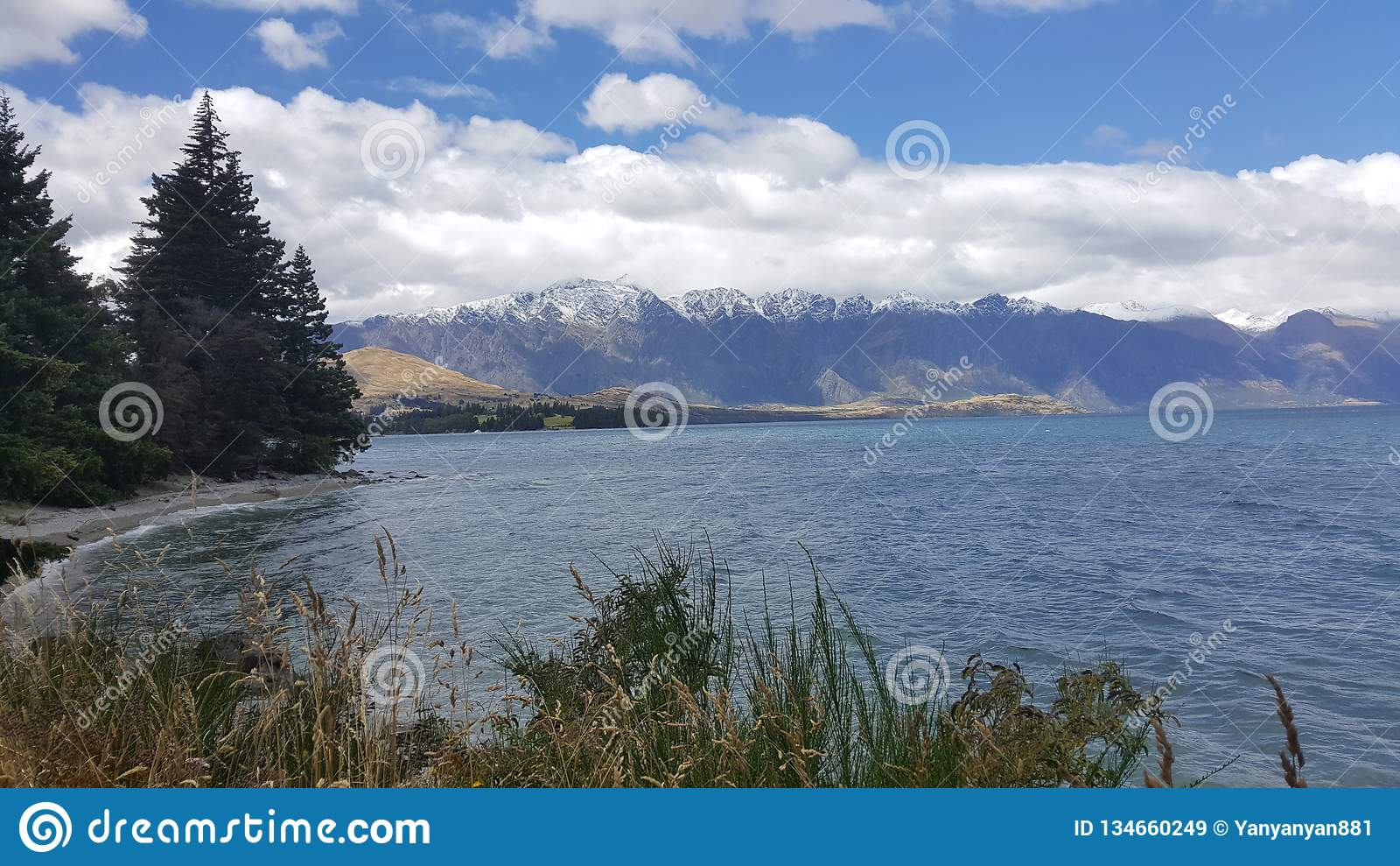 Sceniczna sceneria Queenstown, Nowa Zelandia