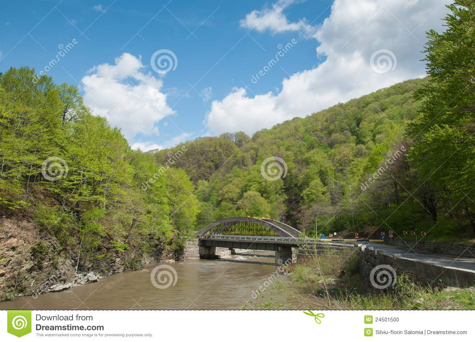 Sceniczny jaru bridżowy krajobraz