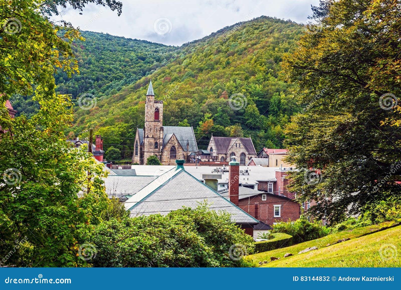 Sceniczny Jim Thorpe Pennsylwania