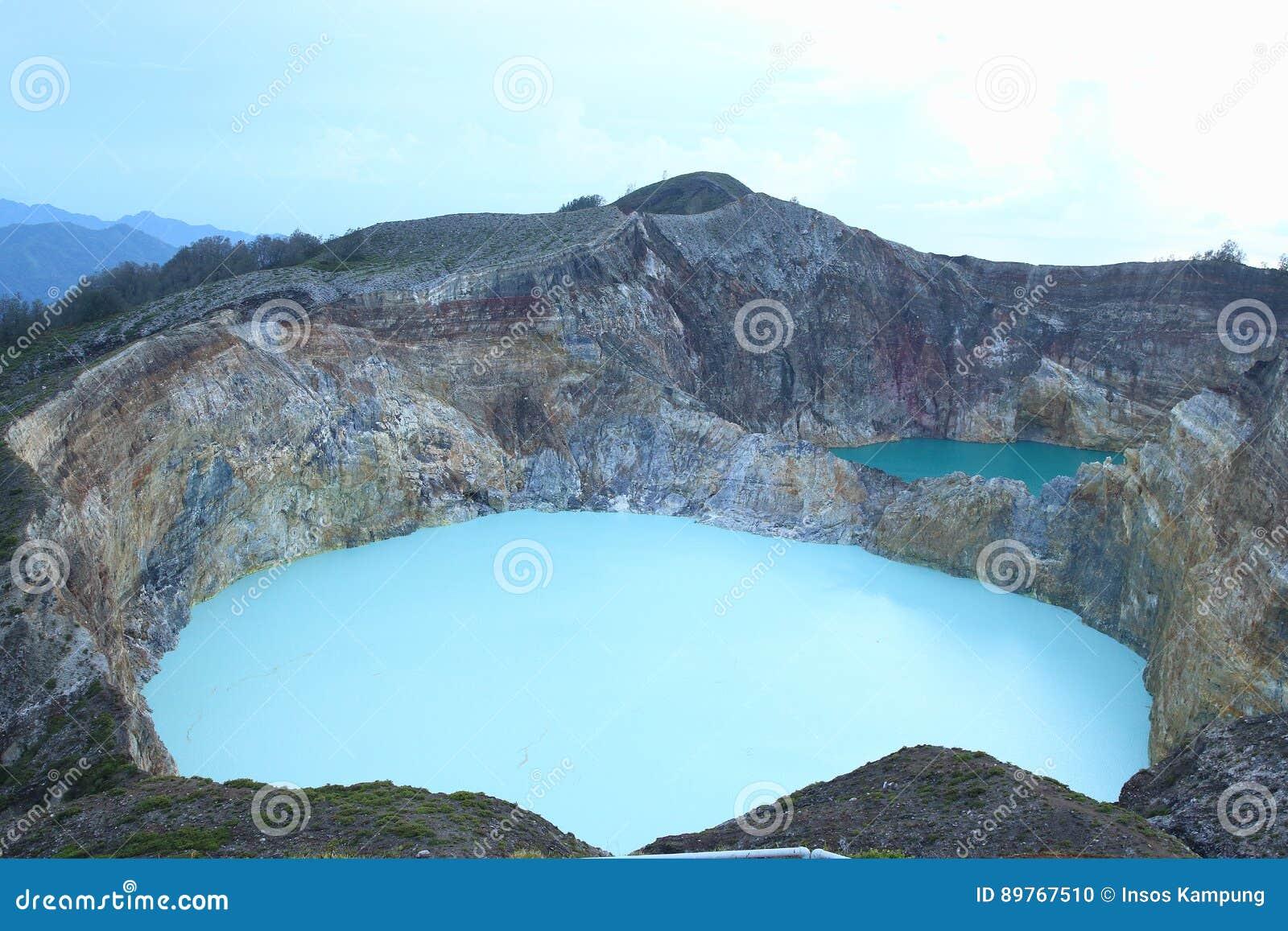 Sceniczny Trzy Barwionego jeziora Kelimutu, Ende