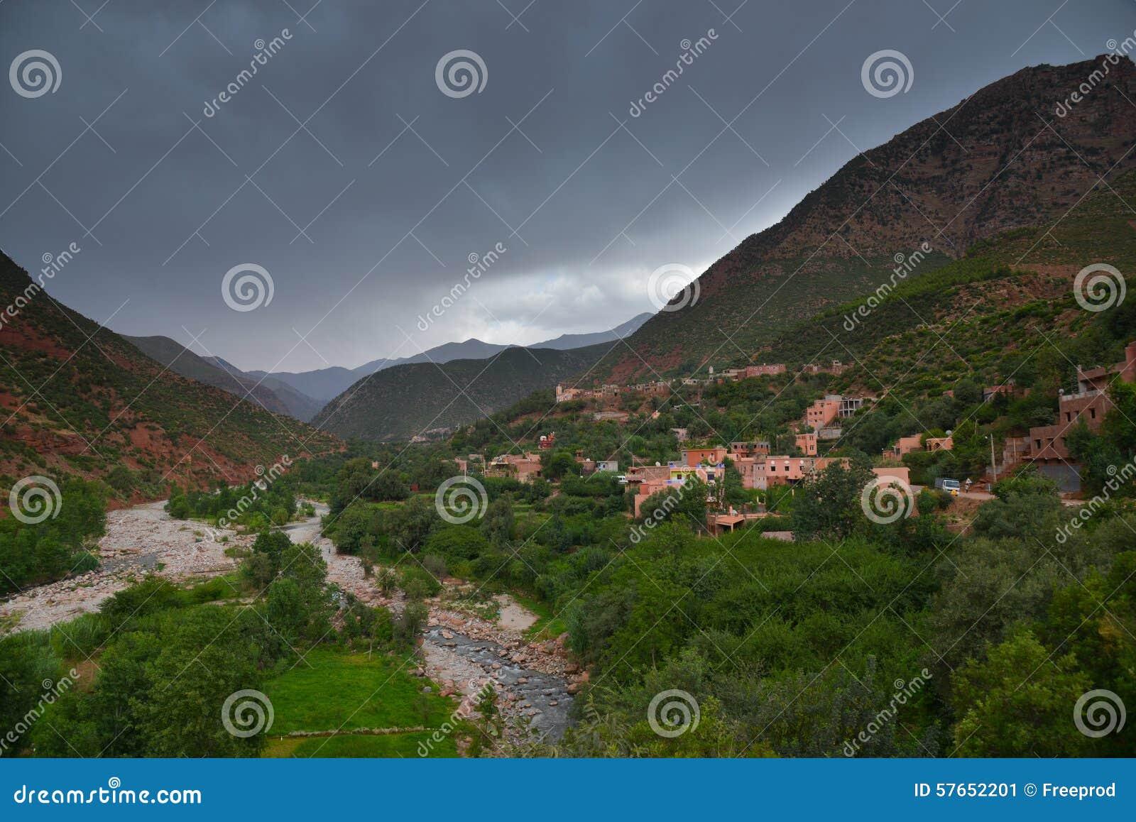 Sceniczny widok atlant Maroko