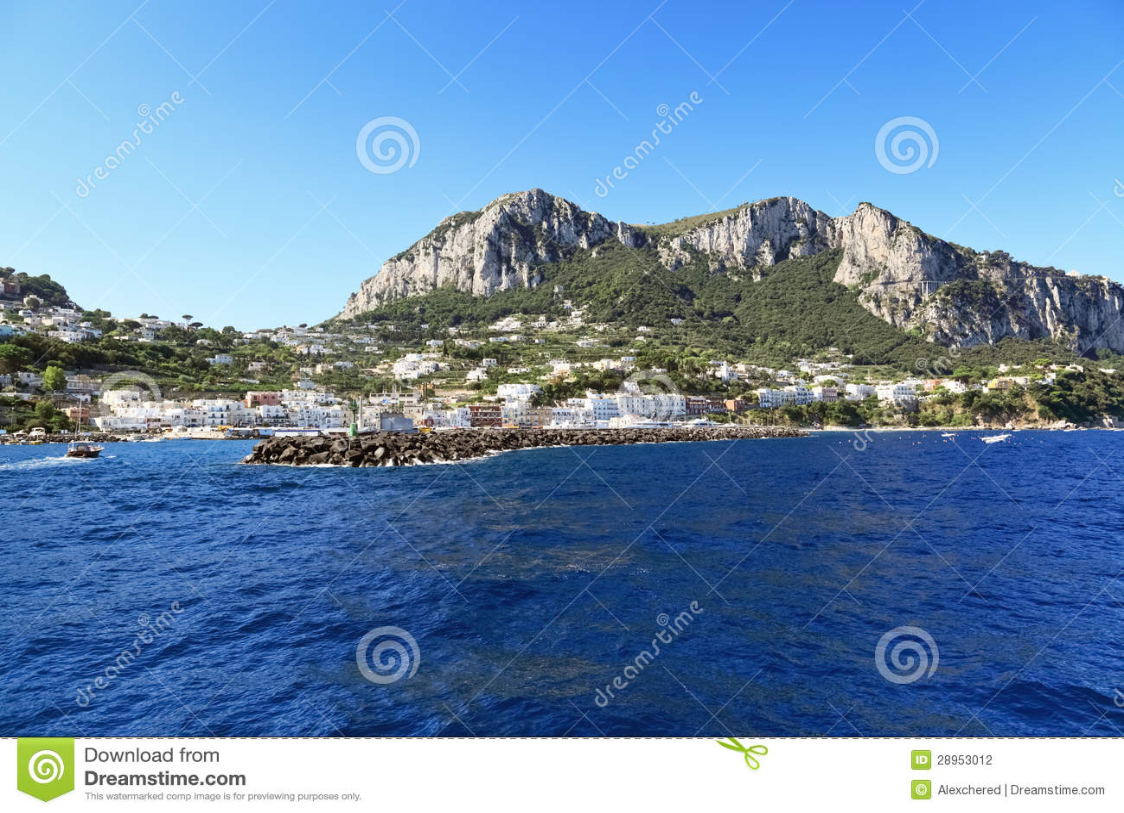 Sceniczny widok popularny kurort, Capri wyspa (Włochy)