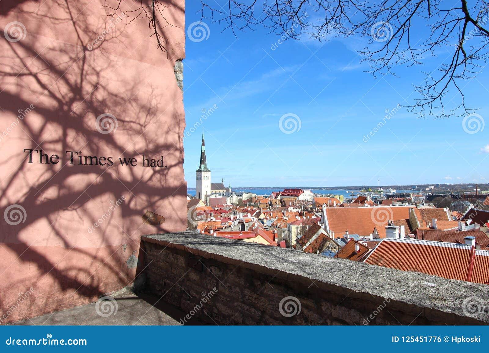 Sceniczny widok Stary miasteczko, Tallinn, Estonia