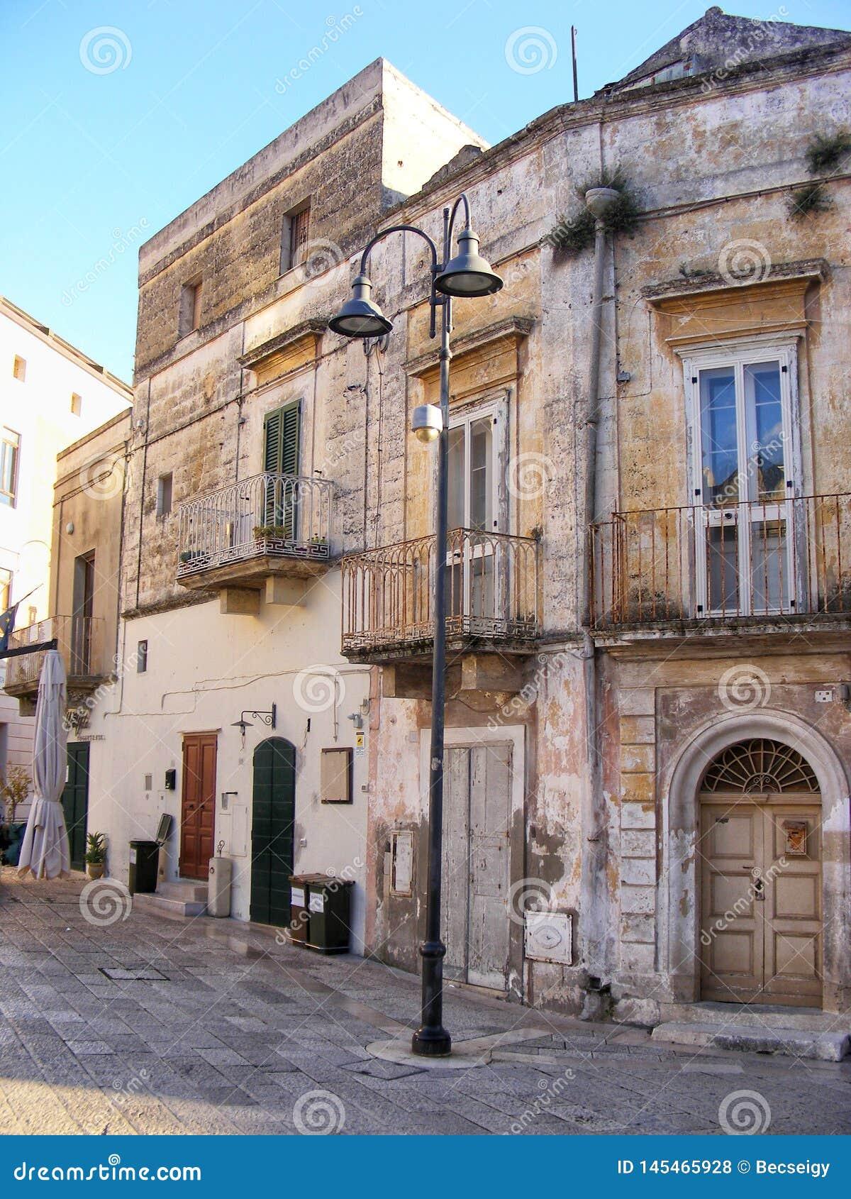 Sceniczny widok w Matera, Basilicata -, Po?udniowy W?ochy