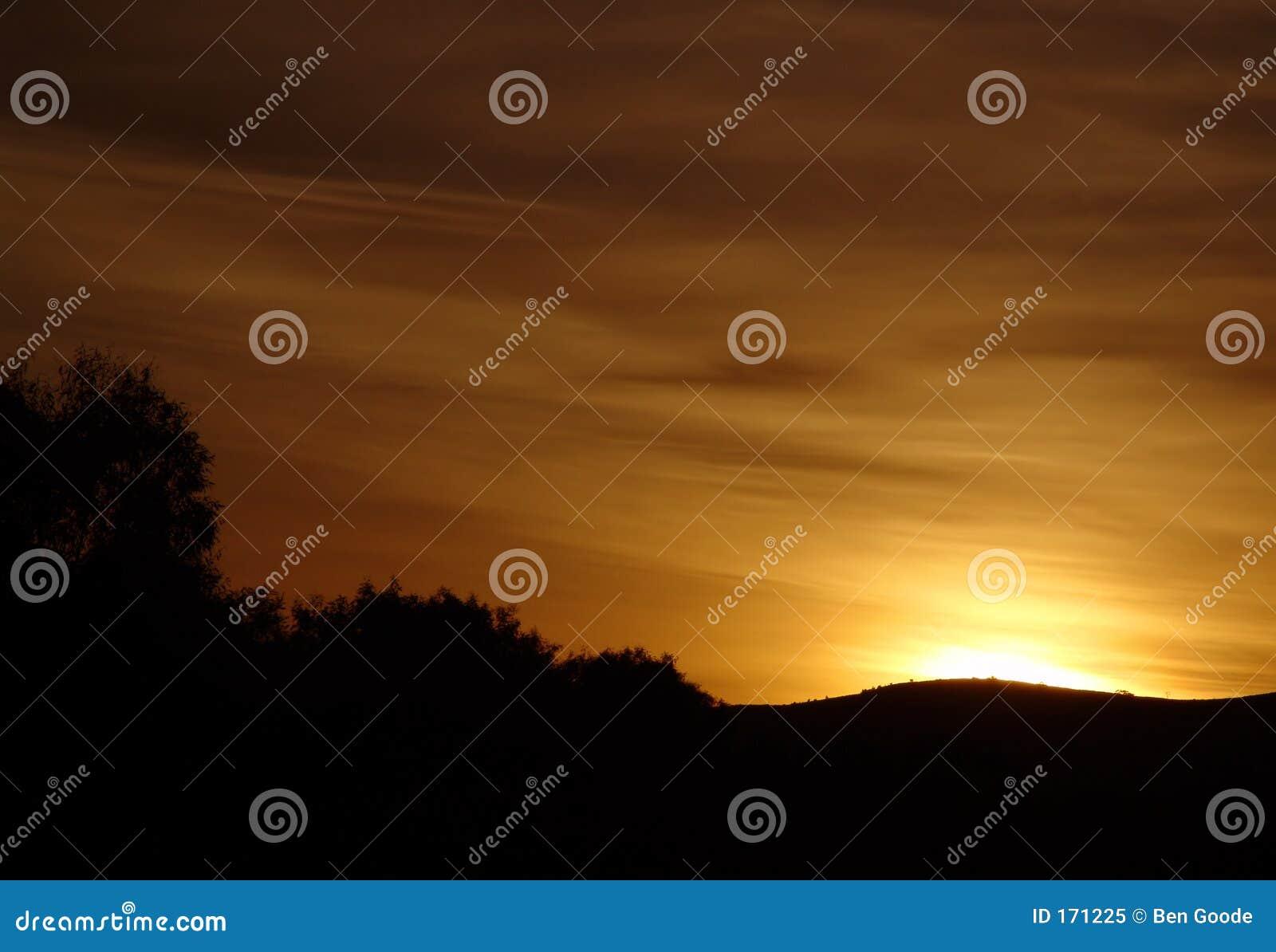 Sceniczny wschód słońca