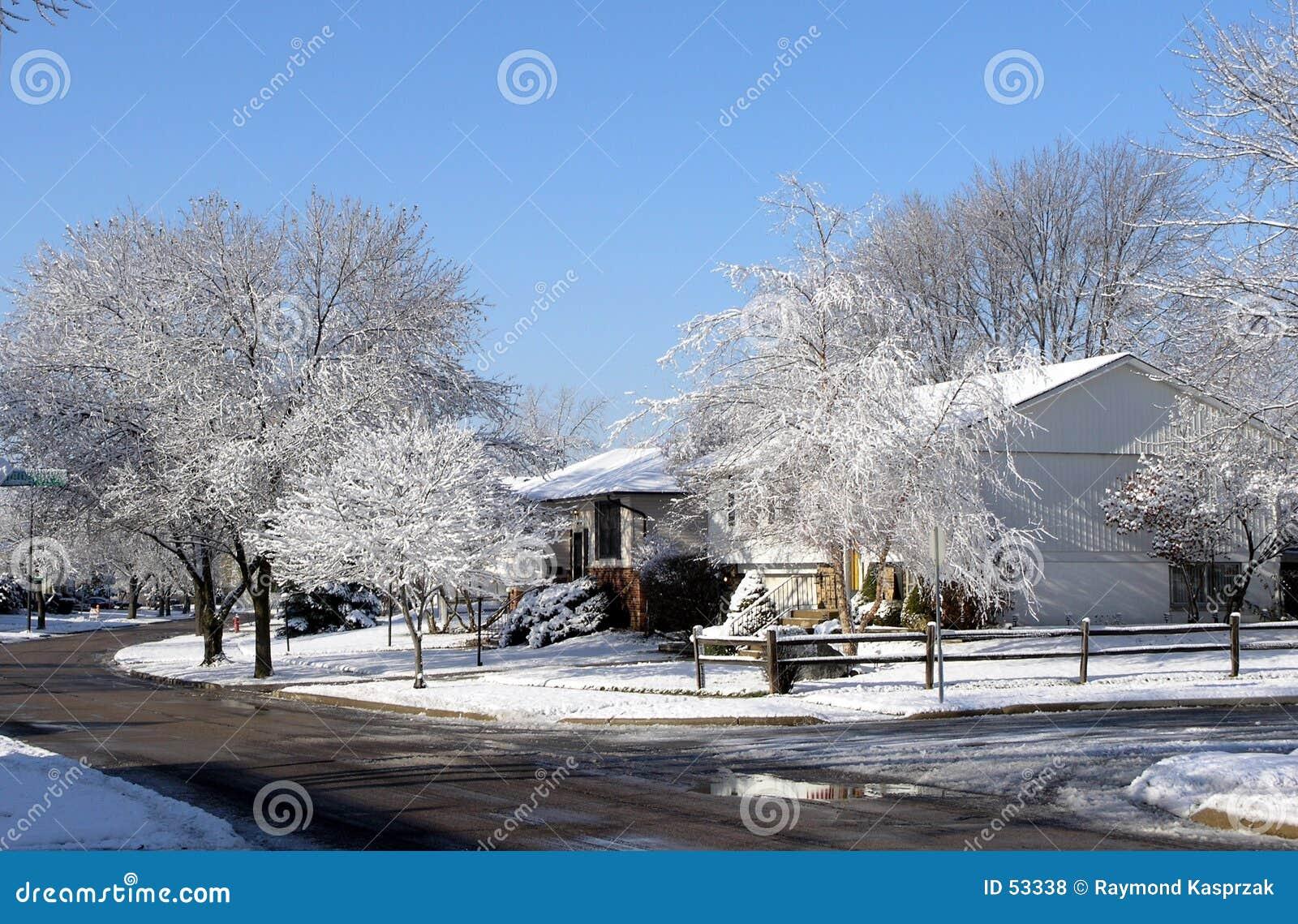 Sceny midwest zimy.