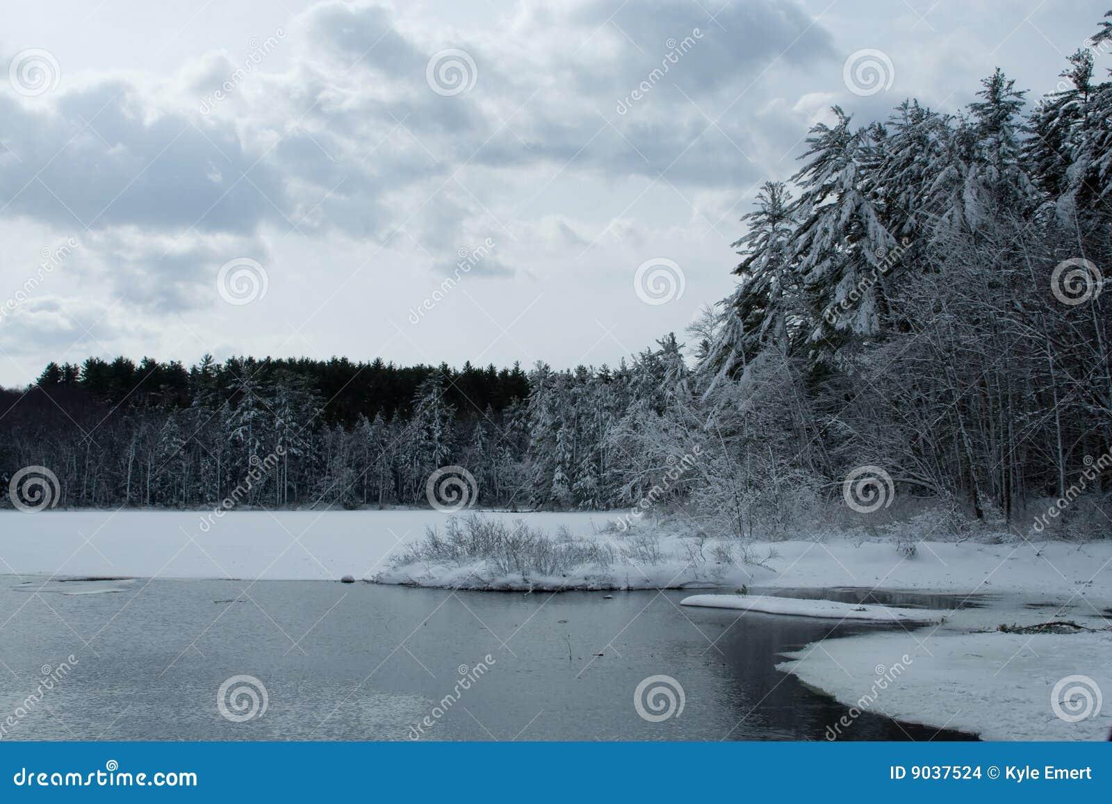 Sceny wiejska zima
